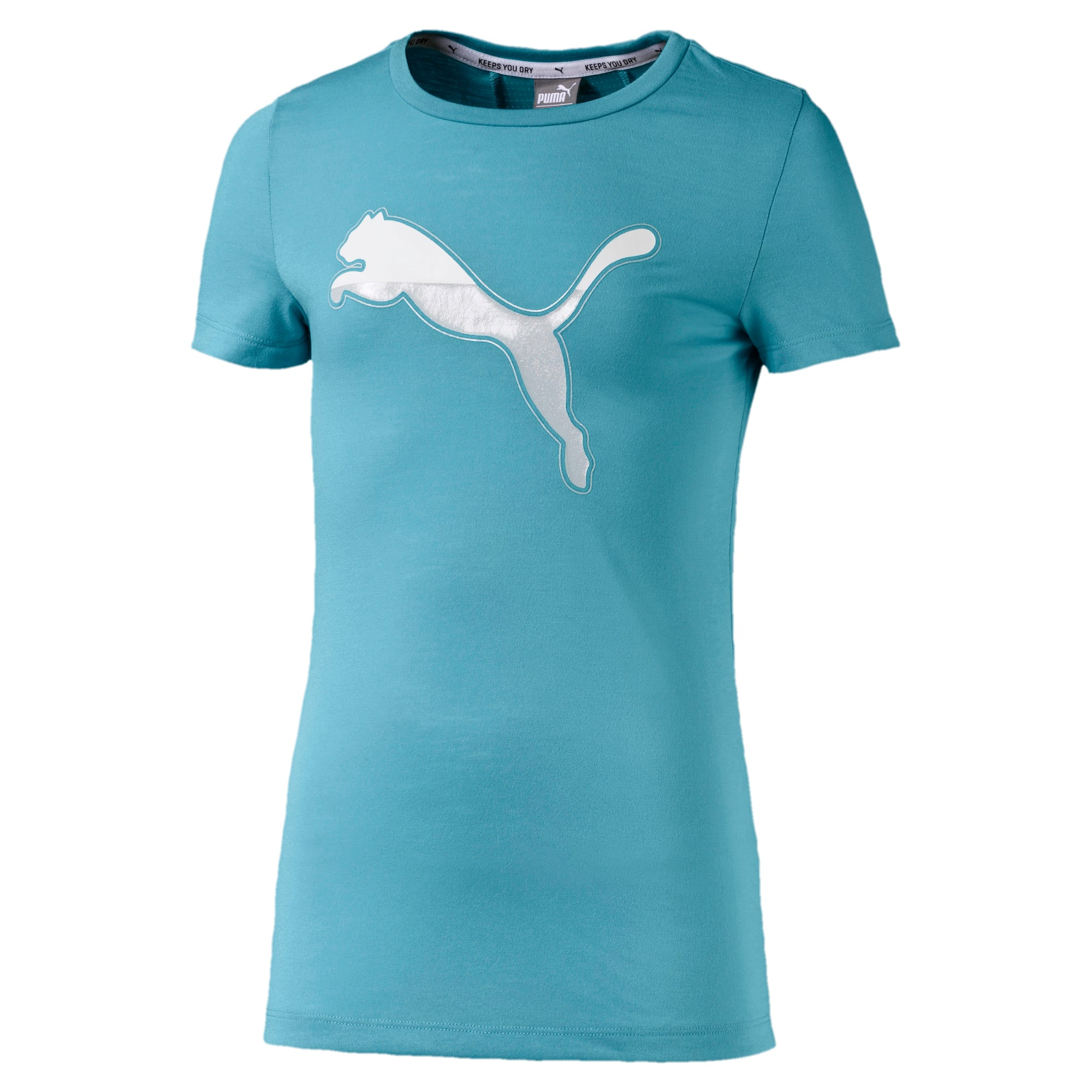 Thumbnail 1 of Active Sports dryCELL Girls' Tee, Milky Blue, medium-IND
