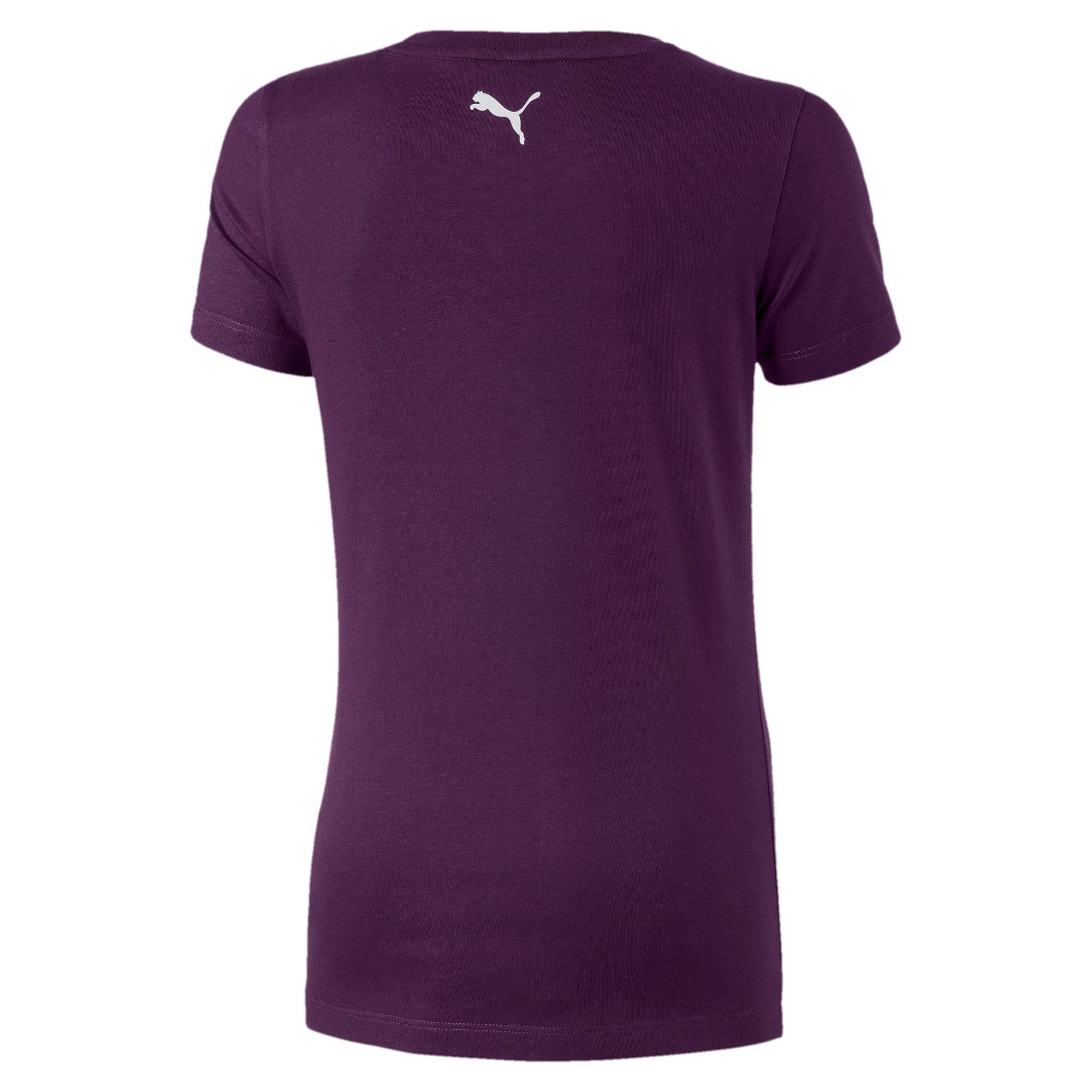 Thumbnail 2 of Alpha Logo Short Sleeve Girls' Tee, Plum Purple, medium-IND