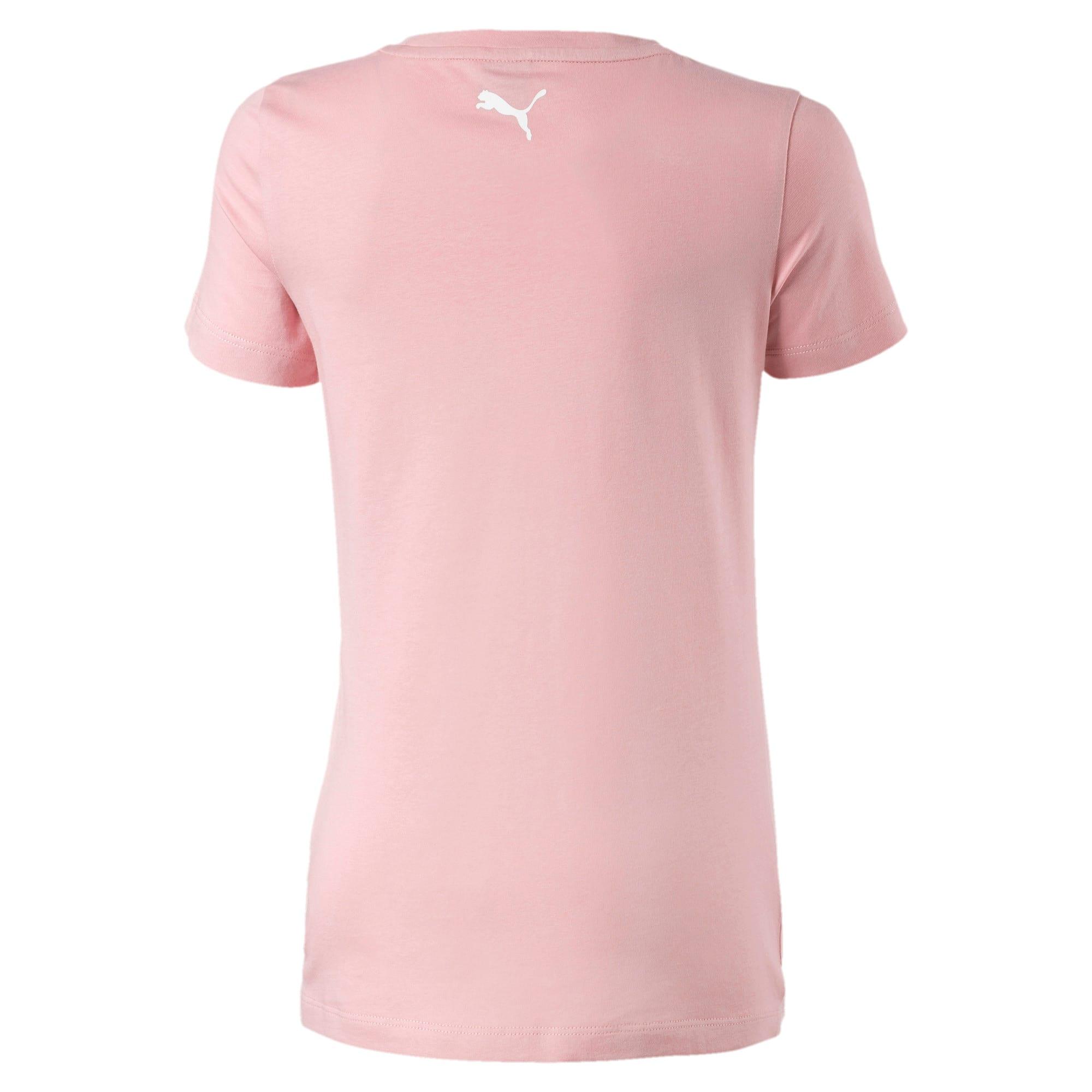 Thumbnail 2 of Alpha T-shirt met korte mouwen en logo voor meisjes, Bridal Rose, medium