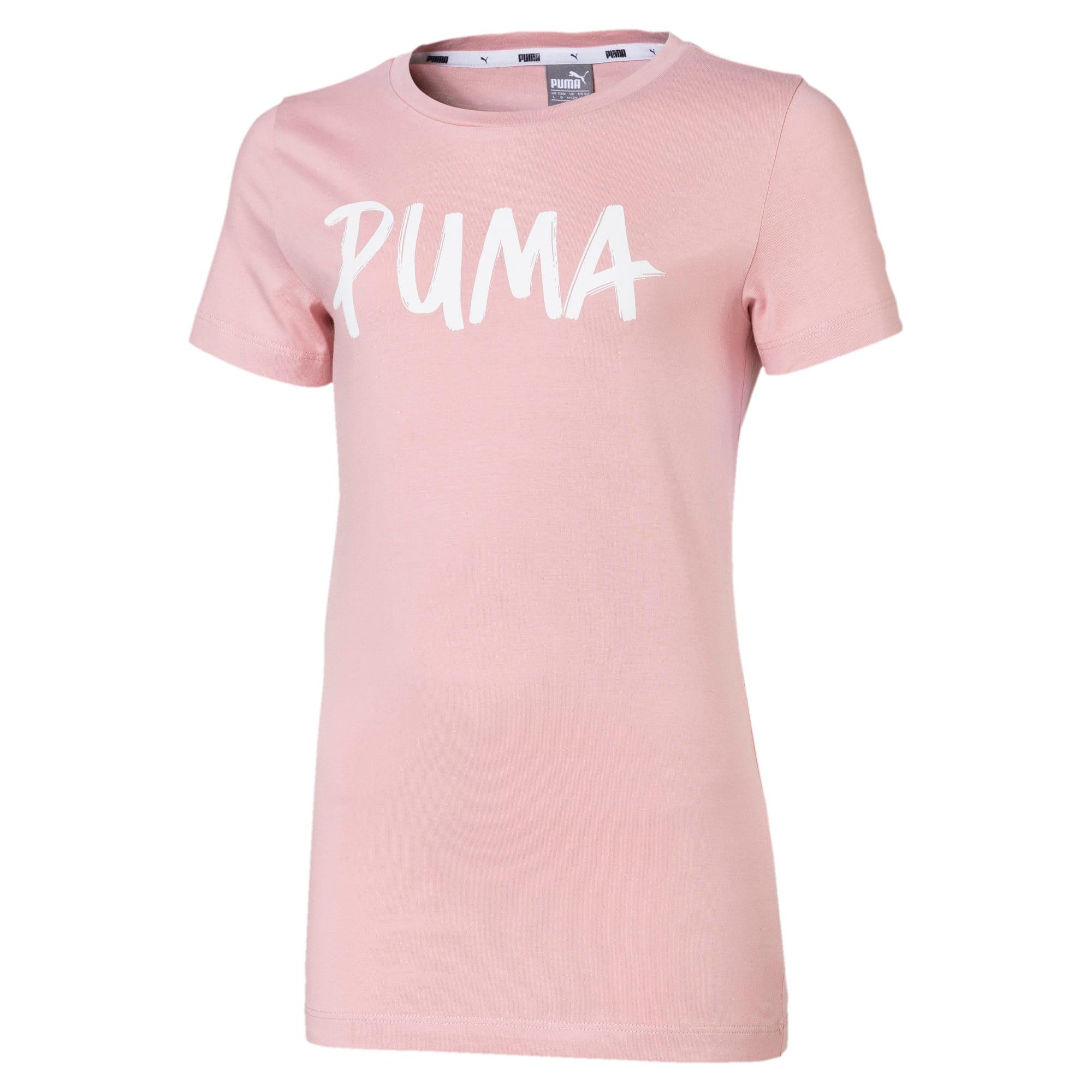 Thumbnail 1 of Alpha T-shirt met korte mouwen en logo voor meisjes, Bridal Rose, medium