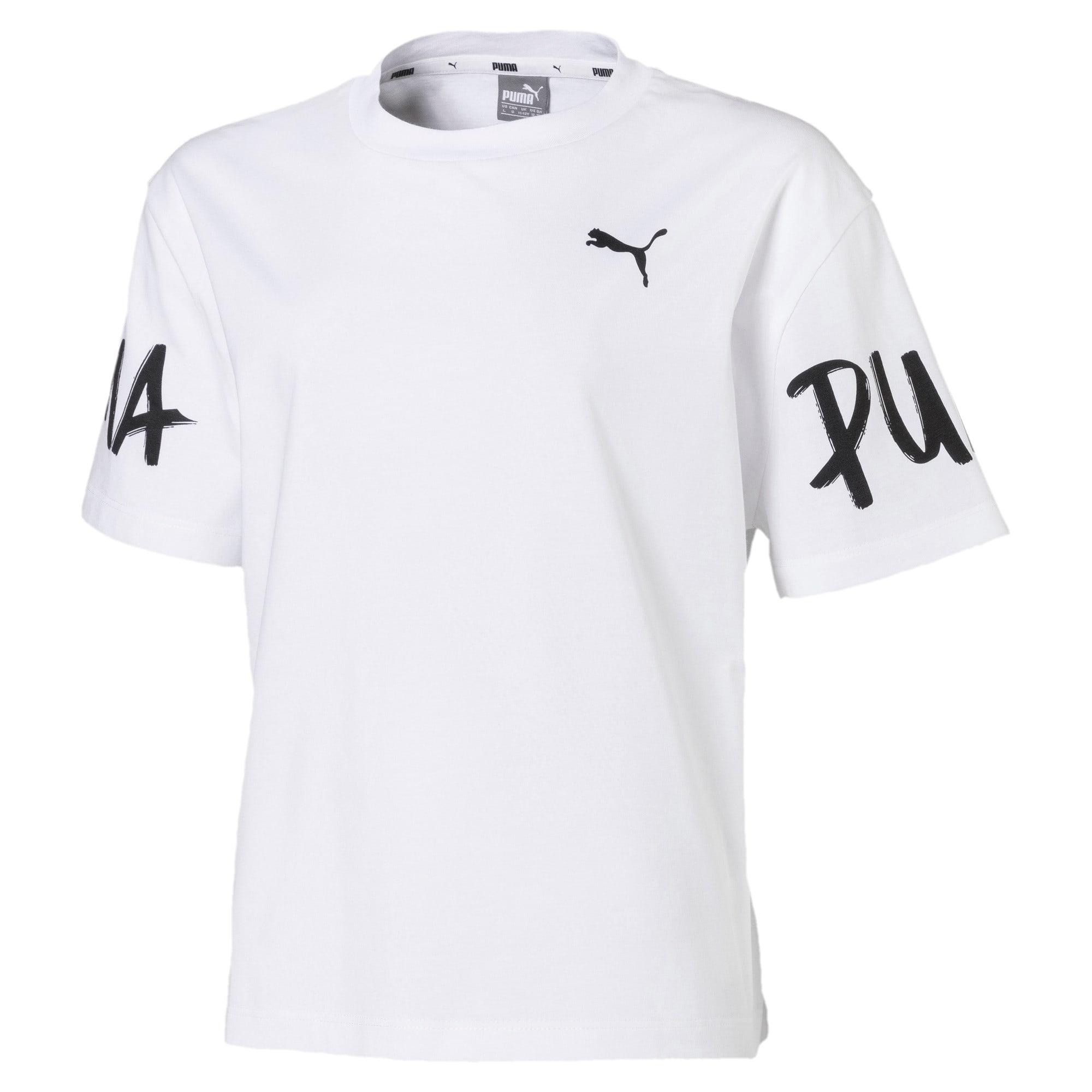 Thumbnail 1 van Alpha T-shirt voor meisjes, Puma White, medium