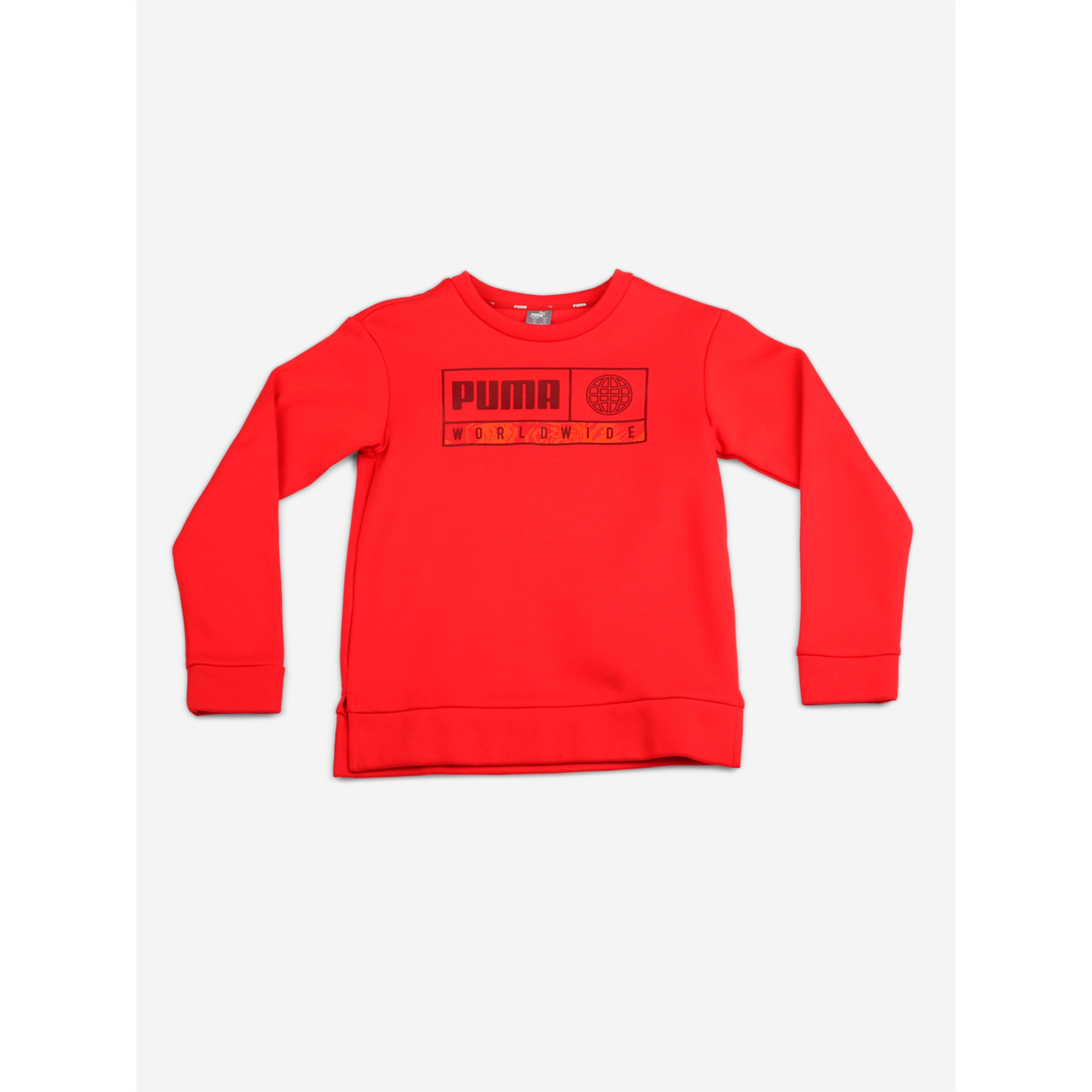 Thumbnail 1 of Boys' Alpha Graphic Crew, High Risk Red, medium-IND