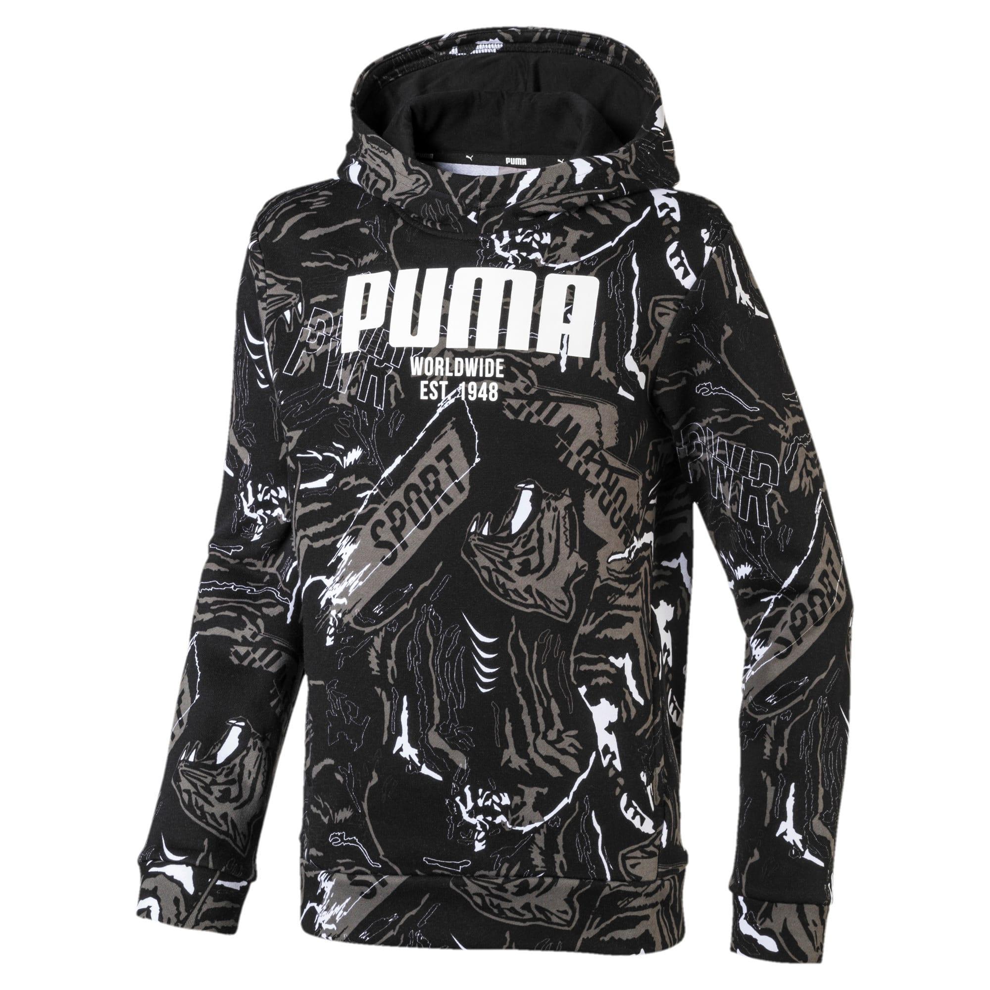 Thumbnail 1 of Boys' Alpha Hoodie, Puma Black, medium-IND