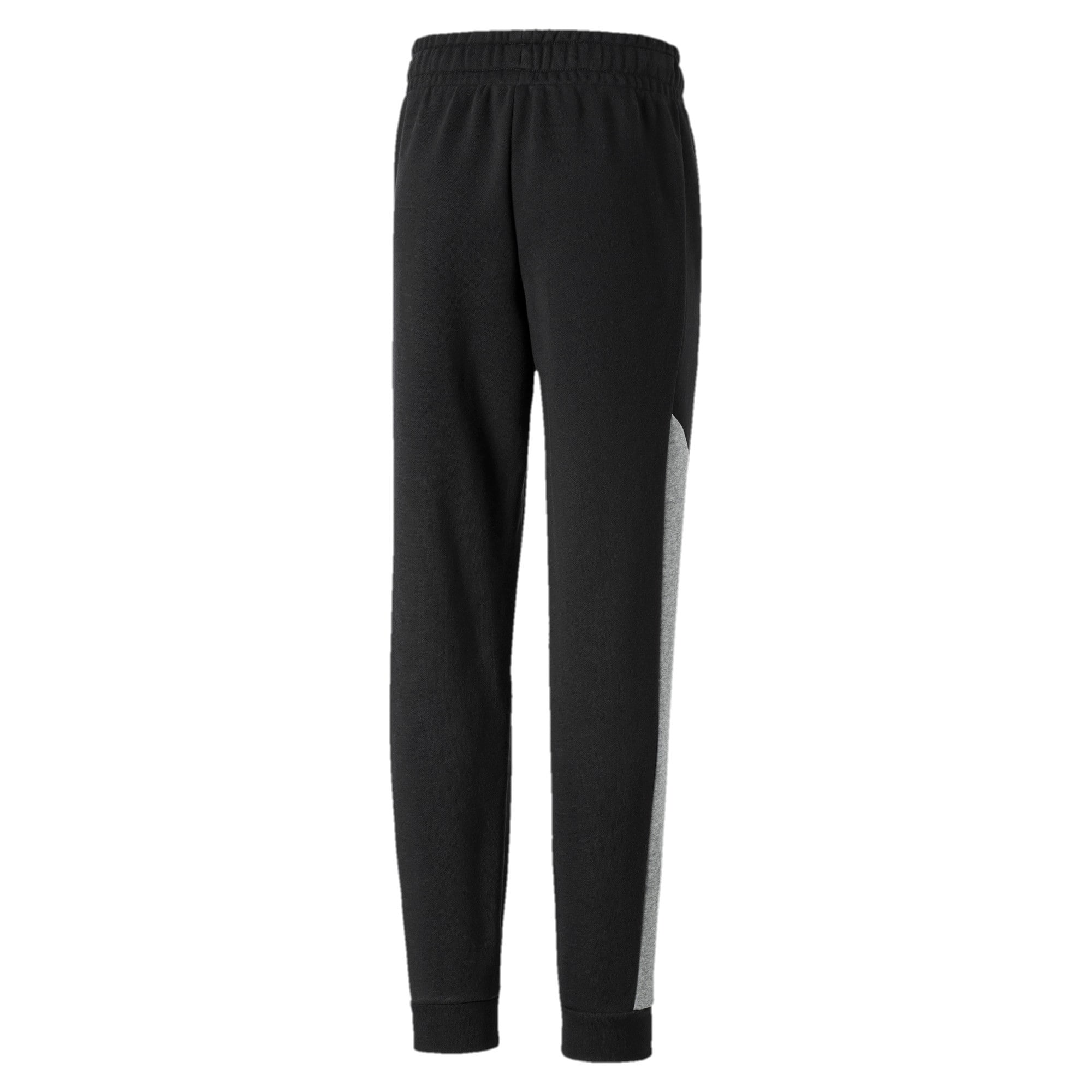 Alpha Knitted Boys' Sweatpants, Puma Black, large-IND