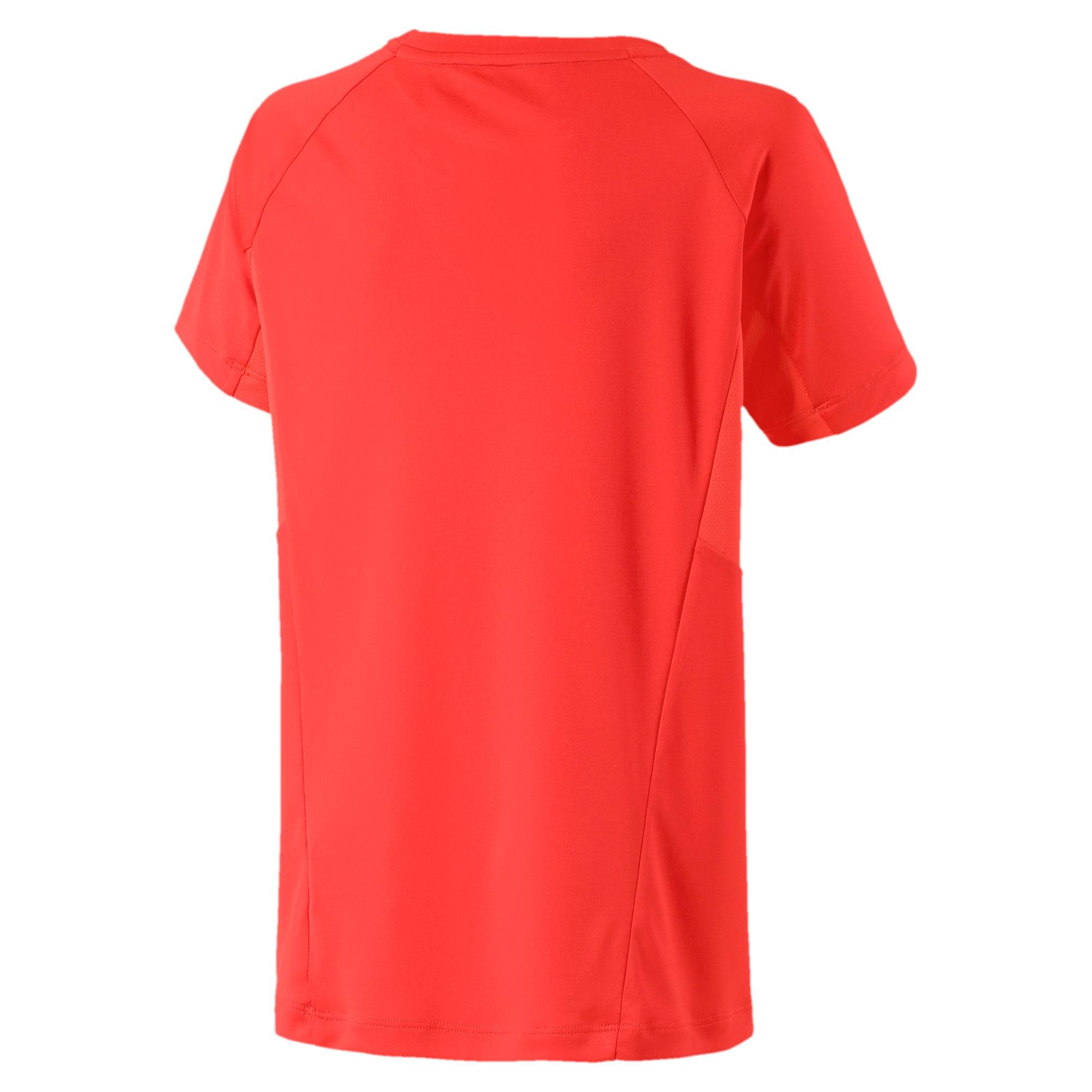 Thumbnail 2 of Active Sports Short Sleeve Boys' Tee, Nrgy Red, medium-IND