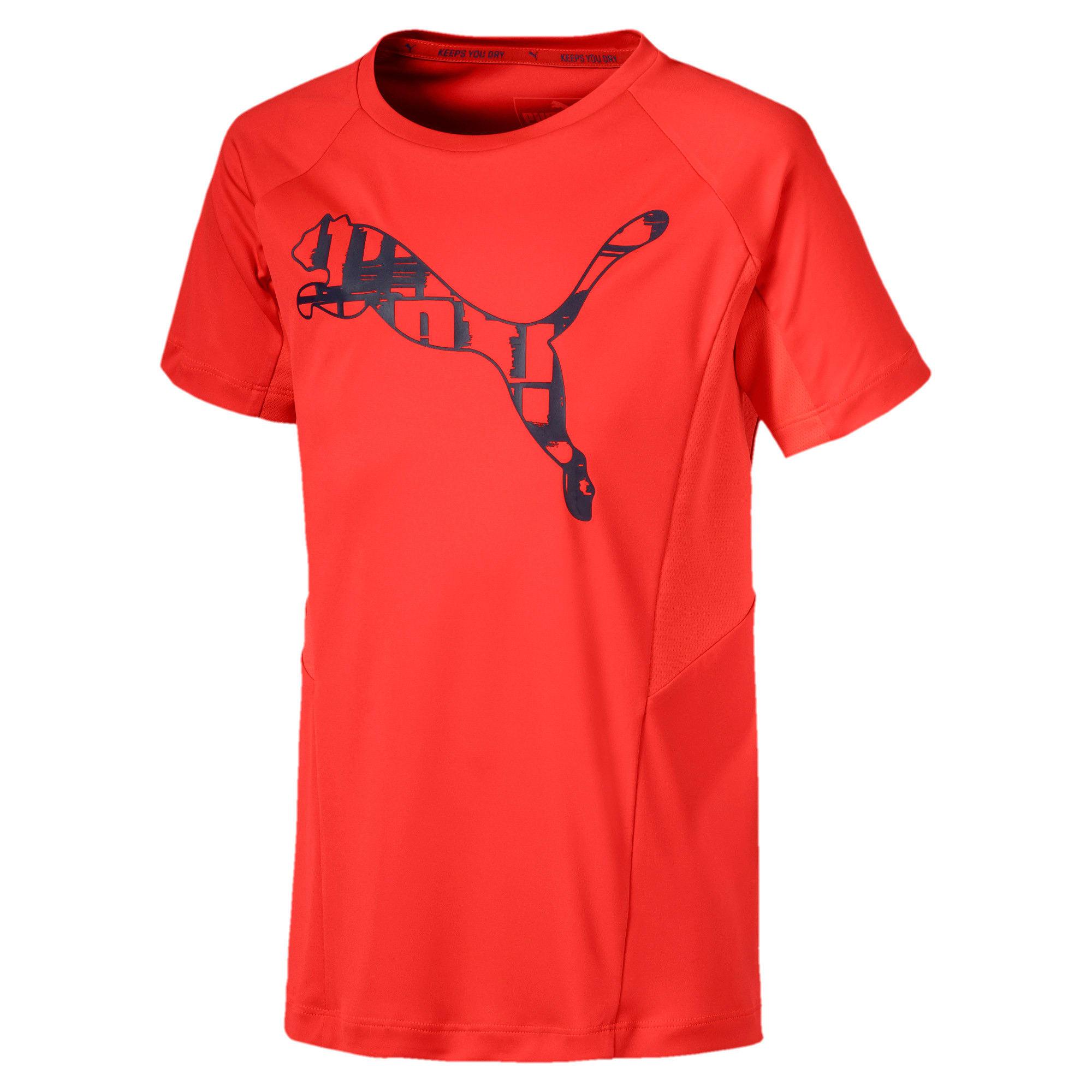 Thumbnail 1 of Active Sports Short Sleeve Boys' Tee, Nrgy Red, medium-IND