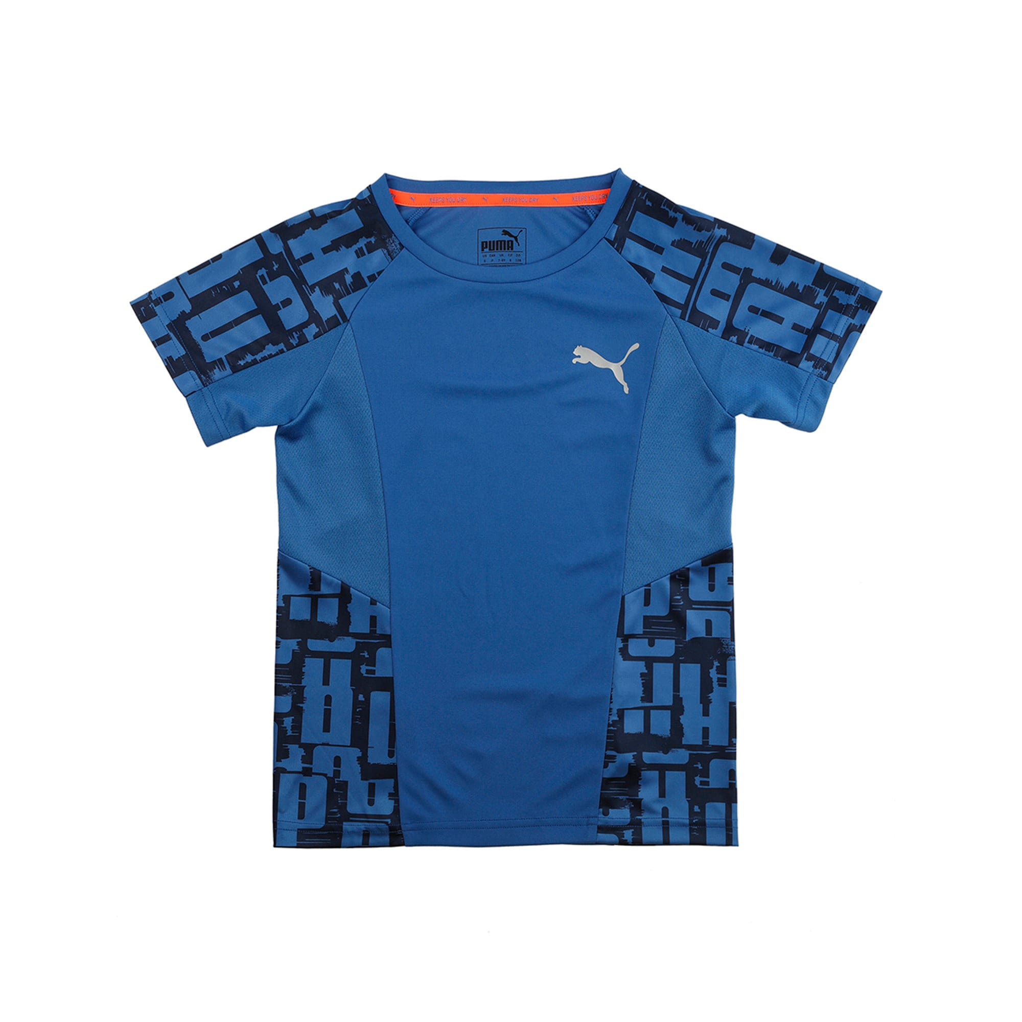 Active Sports Boys' Tee, Galaxy Blue, large-IND