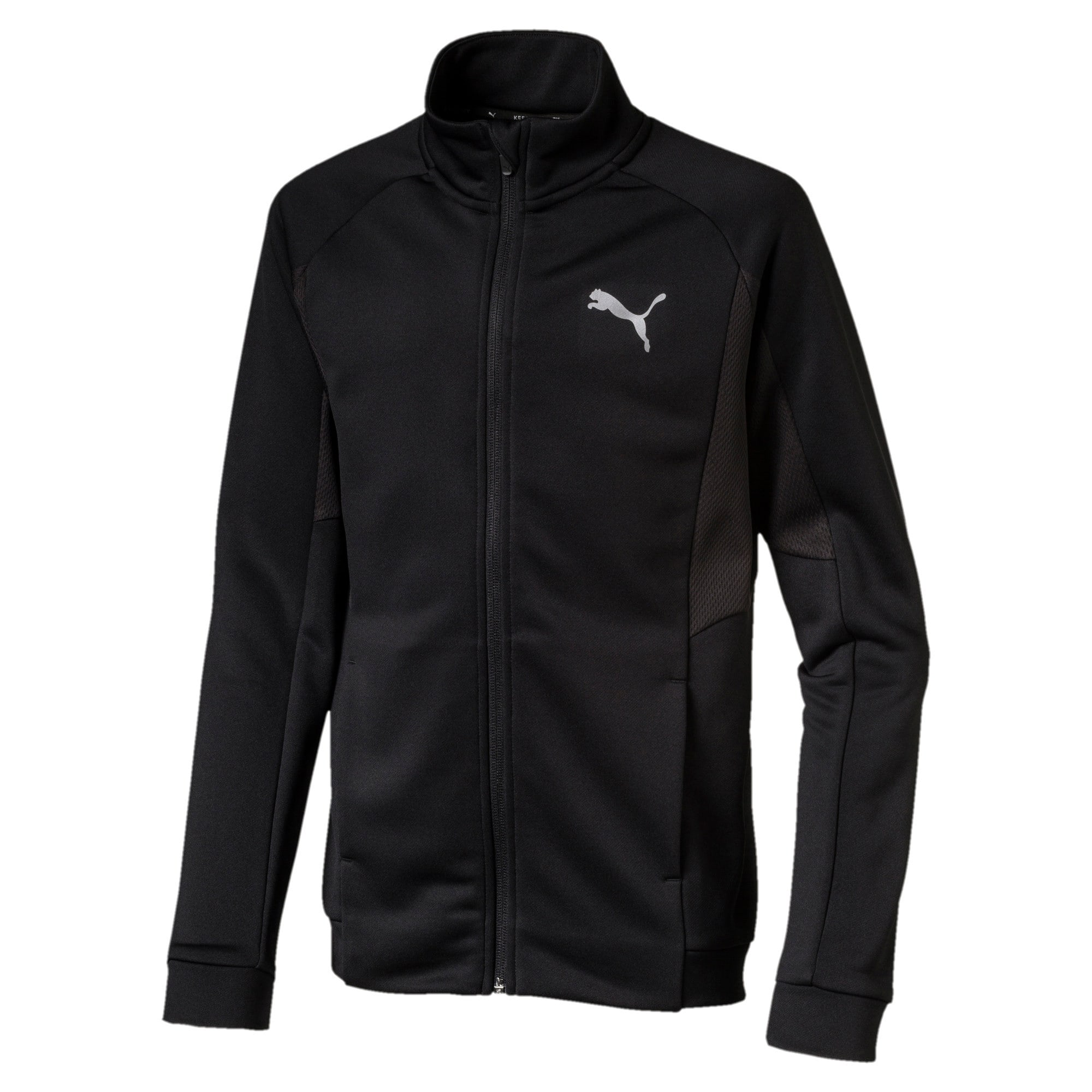 Active Sports Boys' Poly Jacket, Puma Black, large-IND