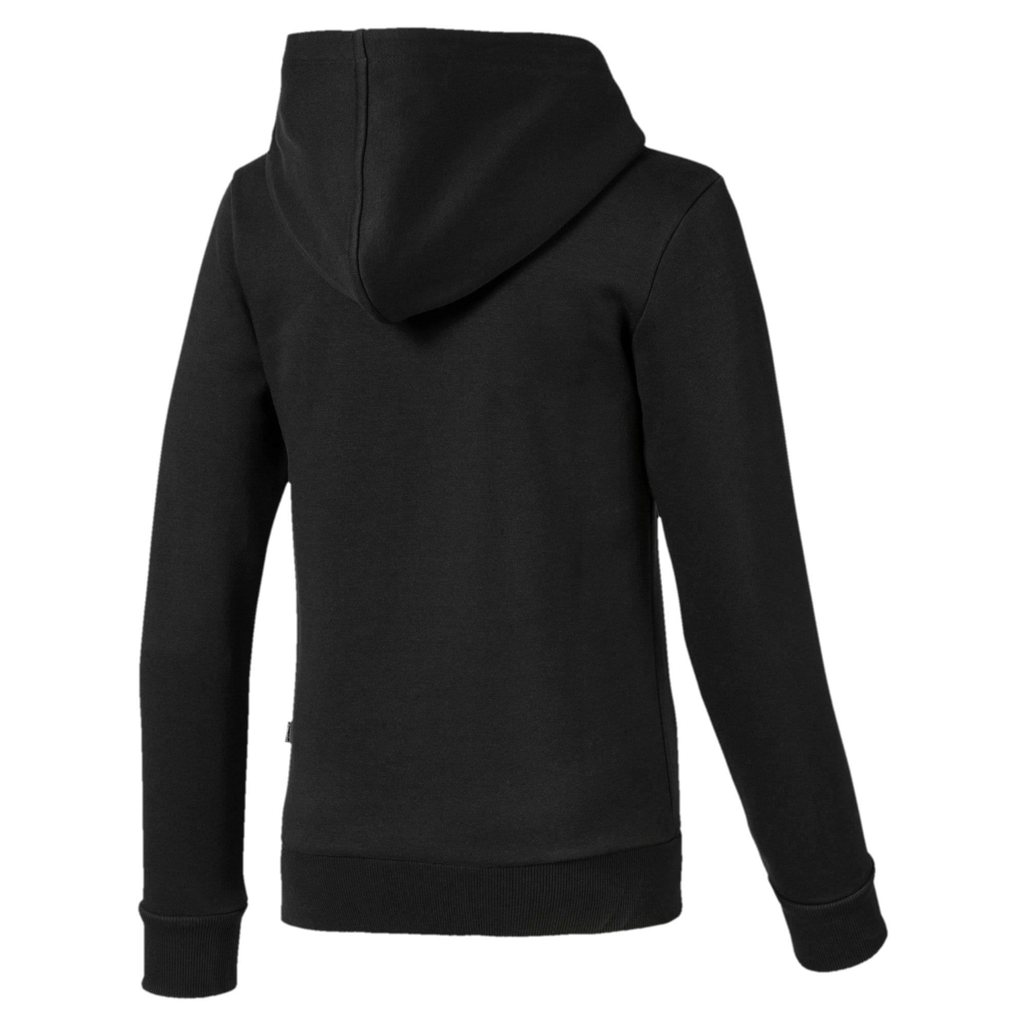 Thumbnail 2 of Full Zip Girls' Jacket, Puma Black, medium-IND