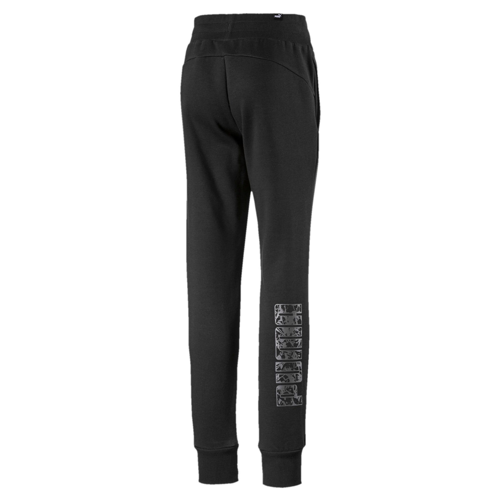 Thumbnail 2 of Girls' Sweatpants, Puma Black, medium-IND