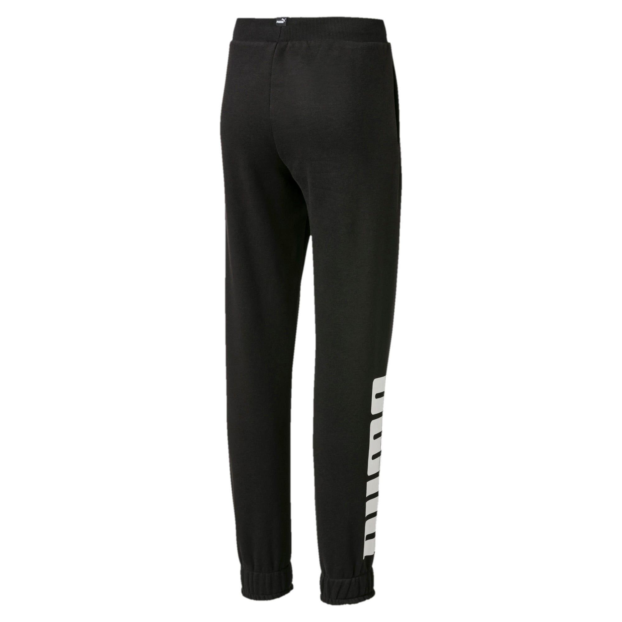 Thumbnail 2 of Knitted Boys' Rebel Sweatpants, Puma Black, medium-IND
