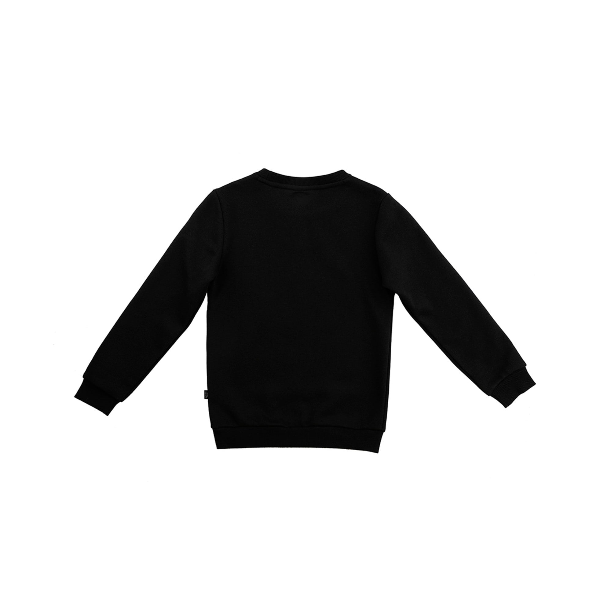 Thumbnail 2 of Boys' Crew Neck Sweater, Puma Black, medium-IND