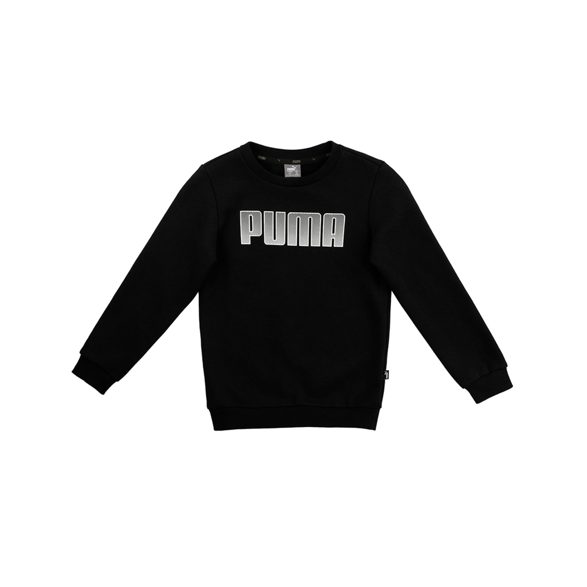 Thumbnail 1 of Boys' Crew Neck Sweater, Puma Black, medium-IND