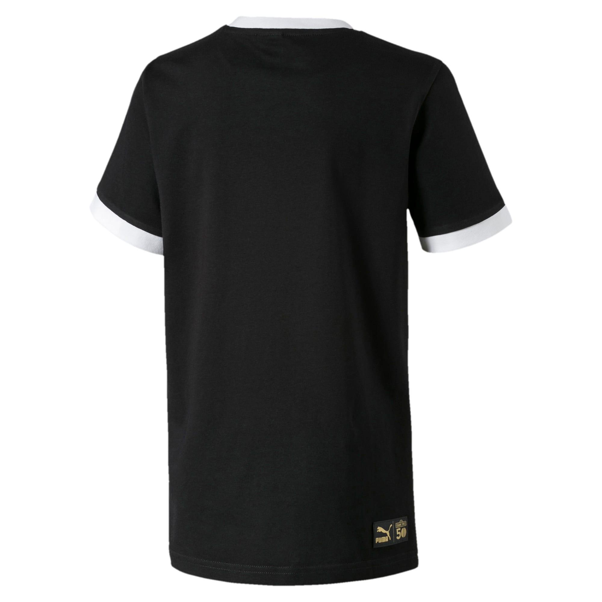 Thumbnail 2 of Sesame Street T-shirt met print voor jongens, Puma Black, medium