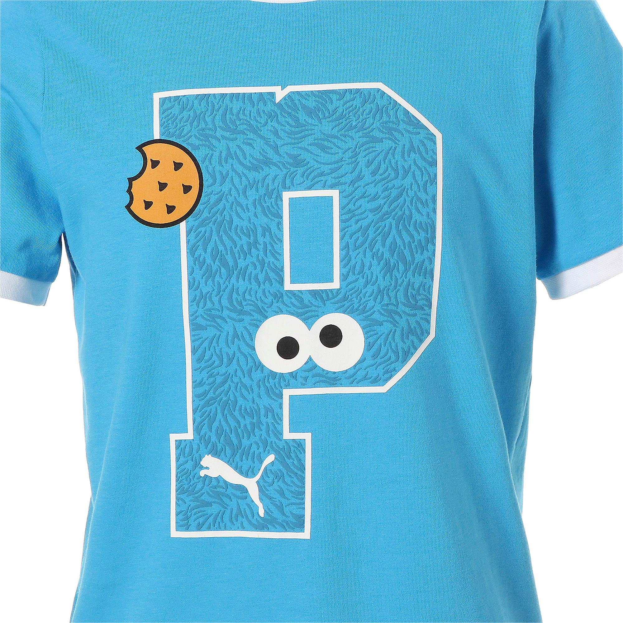 Thumbnail 7 of キッズ セサミストリート SS グラフィック Tシャツ (半袖), Bleu Azur, medium-JPN