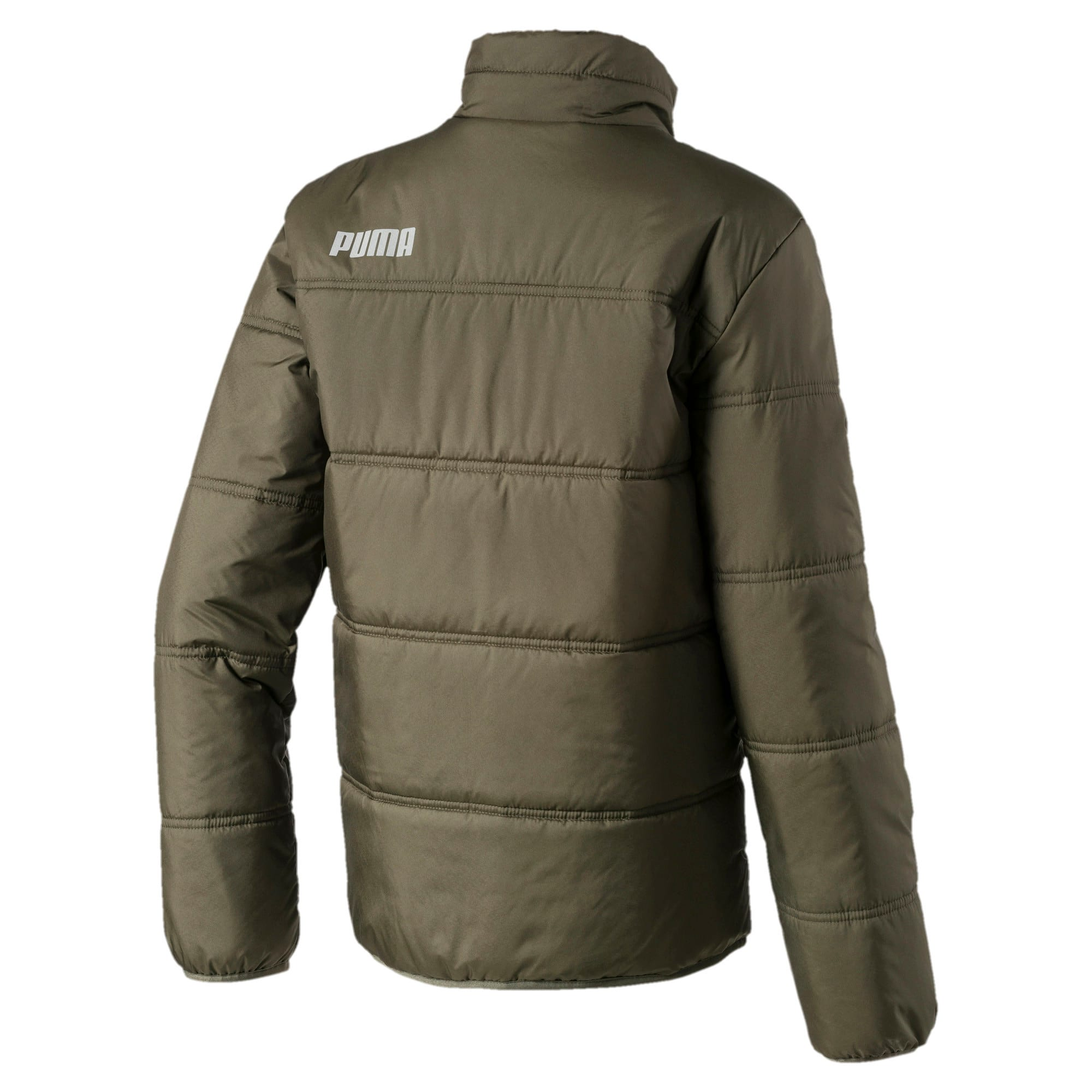 Thumbnail 2 of Essentials Padded Full Zip Men's Jacket, Forest Night, medium-IND