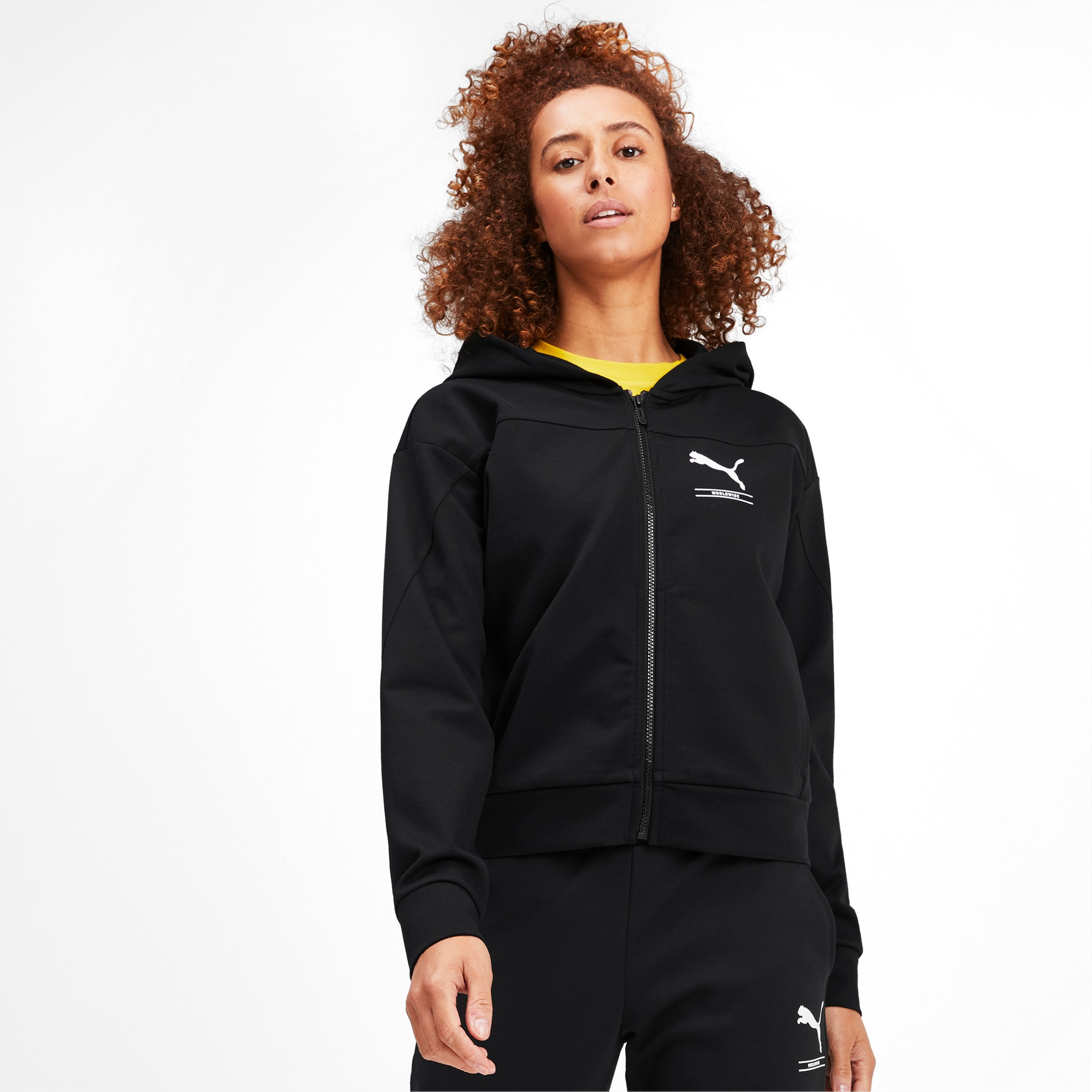 Thumbnail 1 of NU-TILITY Full Zip Women's Hoodie, Puma Black, medium