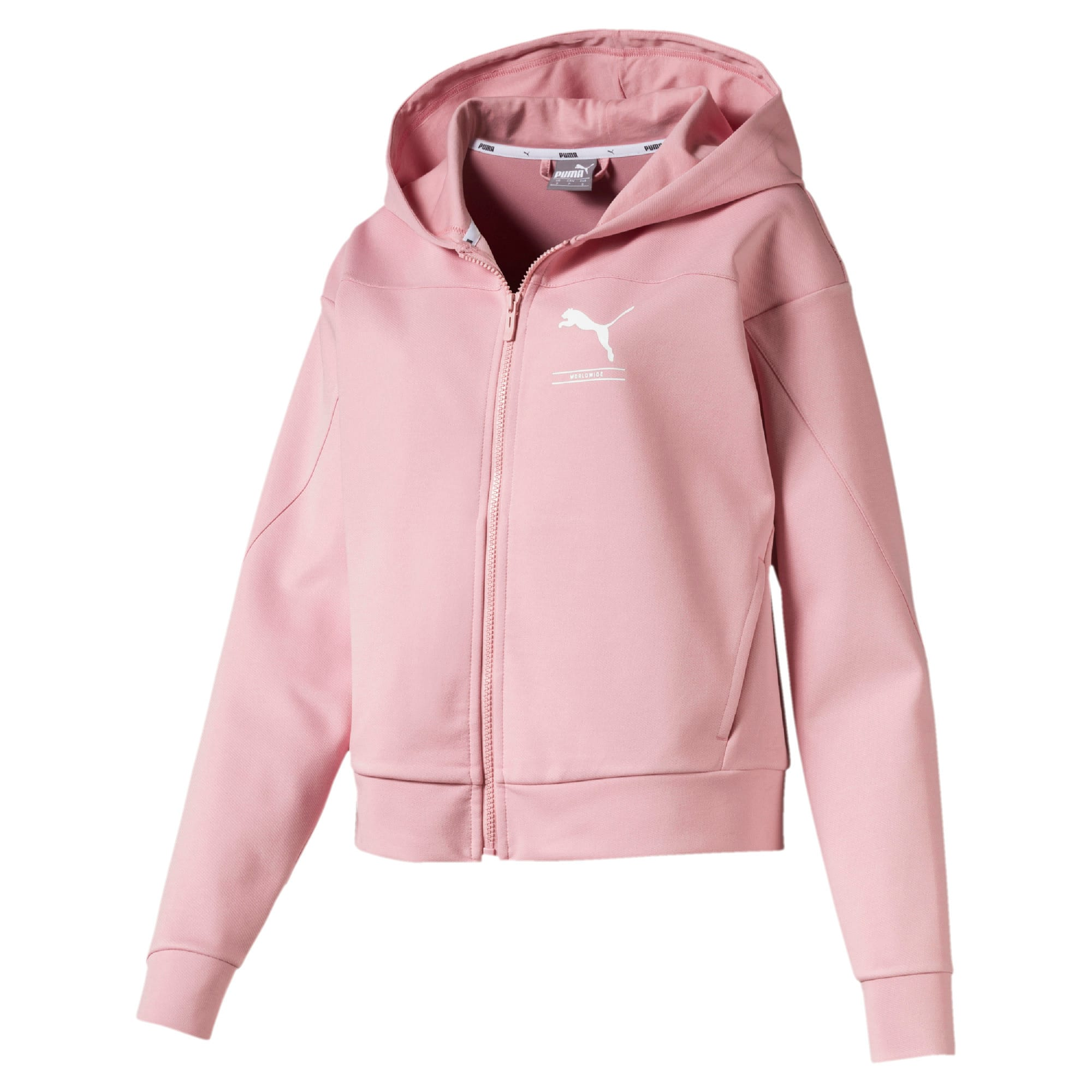 Thumbnail 4 of Blouson en sweat à capuche NU-TILITY pour femme, Bridal Rose, medium
