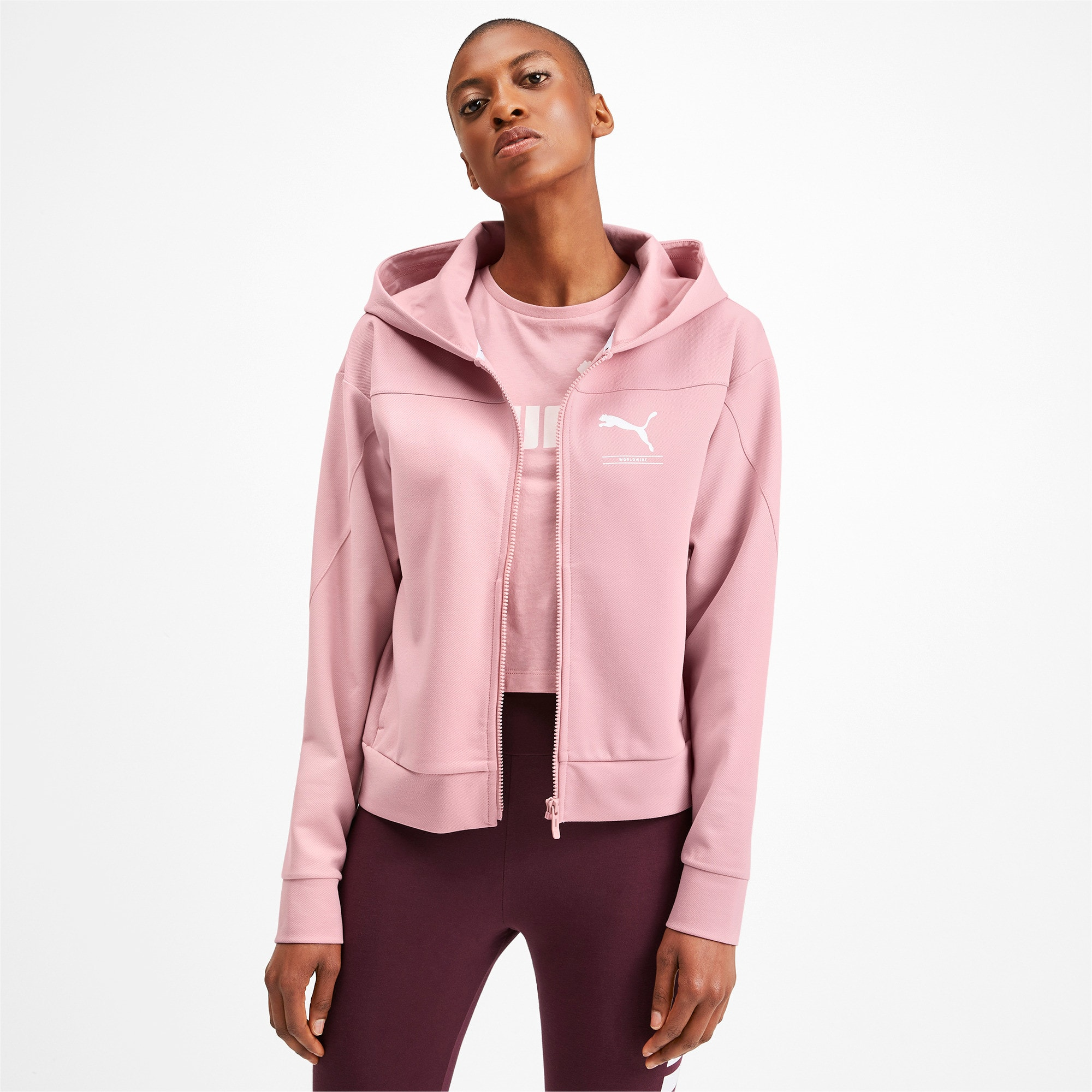 Thumbnail 1 of NU-TILITY Full Zip Women's Hoodie, Bridal Rose, medium