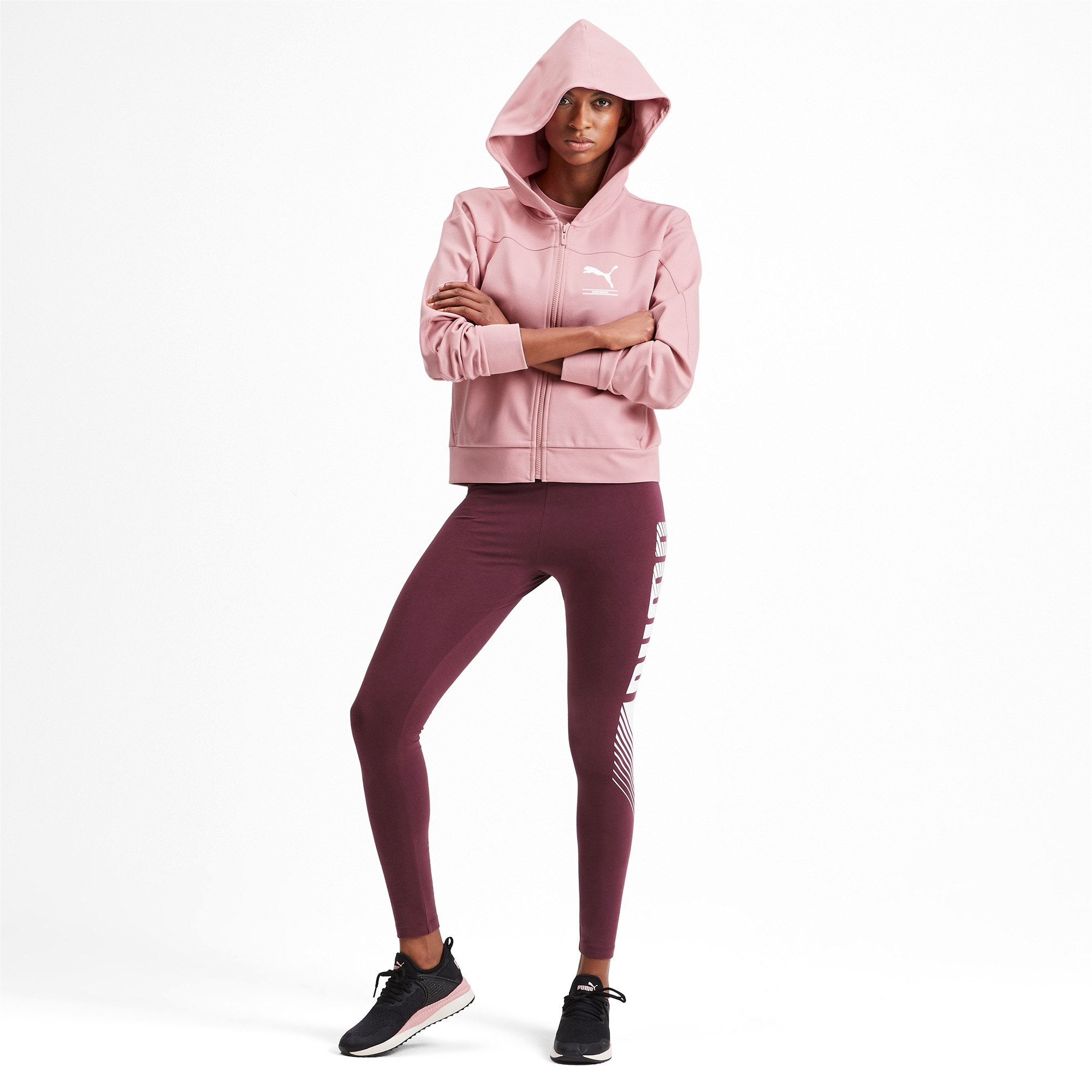 Thumbnail 3 of Blouson en sweat à capuche NU-TILITY pour femme, Bridal Rose, medium