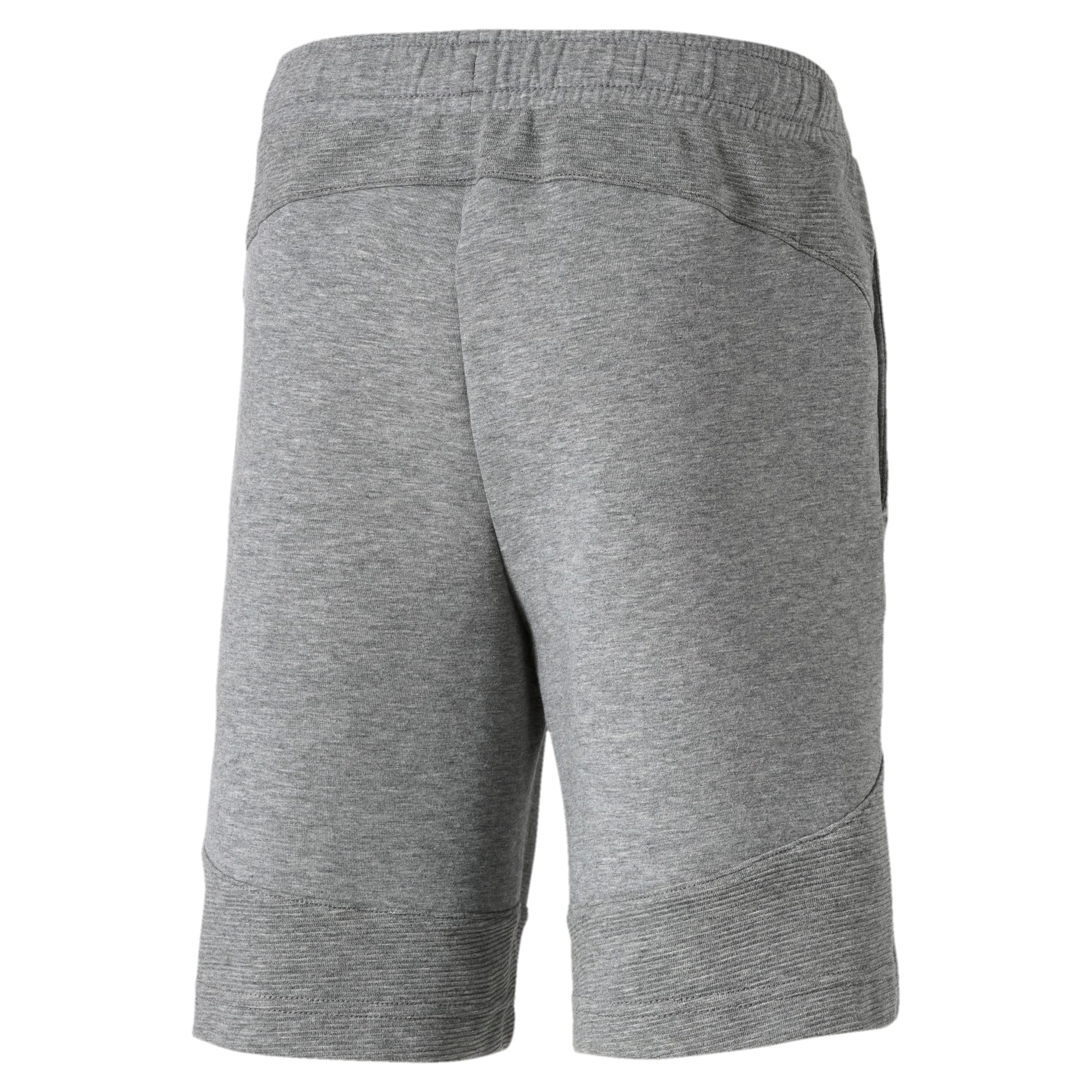 Thumbnail 2 of Evostripe Knitted Boys' Shorts, Medium Gray Heather, medium