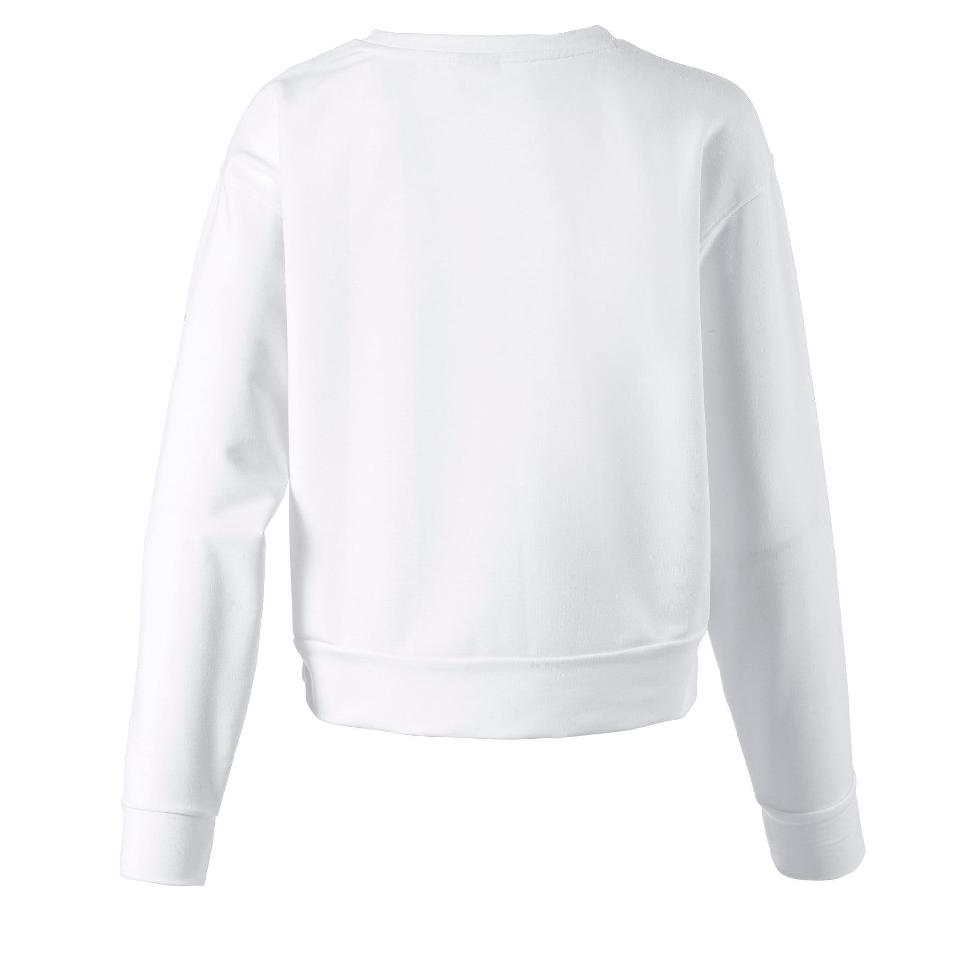 Thumbnail 2 of Modern Sports Crew Girls' Sweater, Puma White, medium-IND