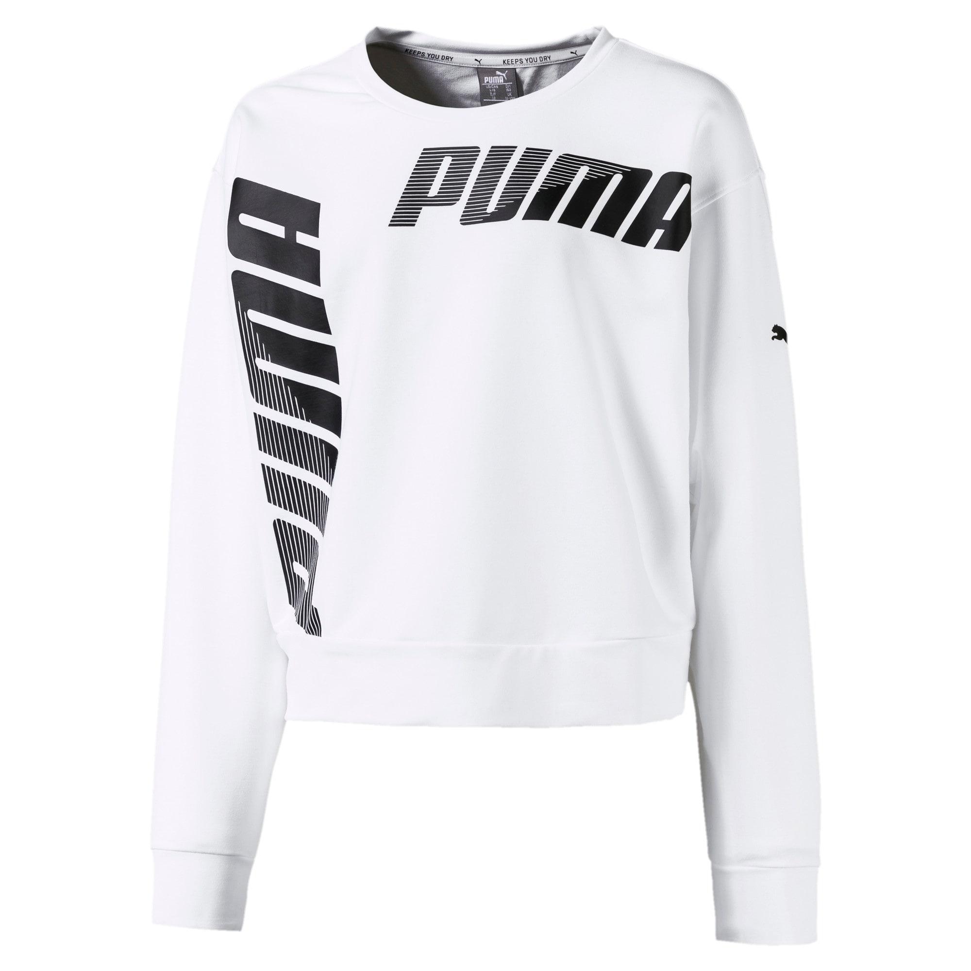 Thumbnail 1 of Modern Sports Crew Girls' Sweater, Puma White, medium-IND