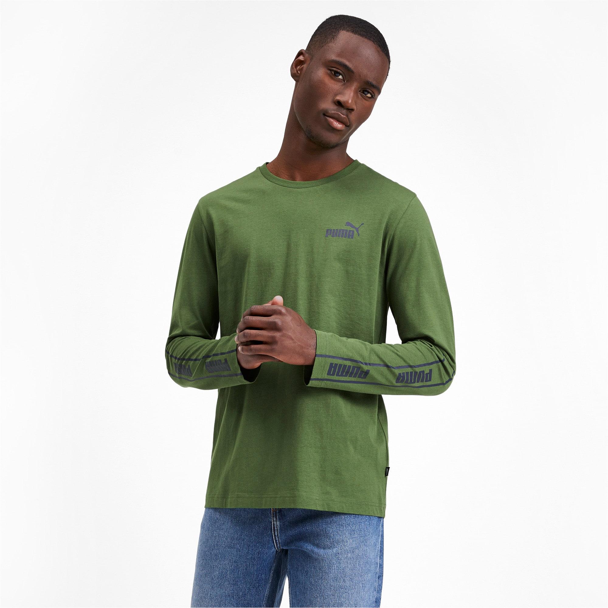 Thumbnail 1 of Amplified Long Sleeve Men's Tee, Garden Green, medium-IND