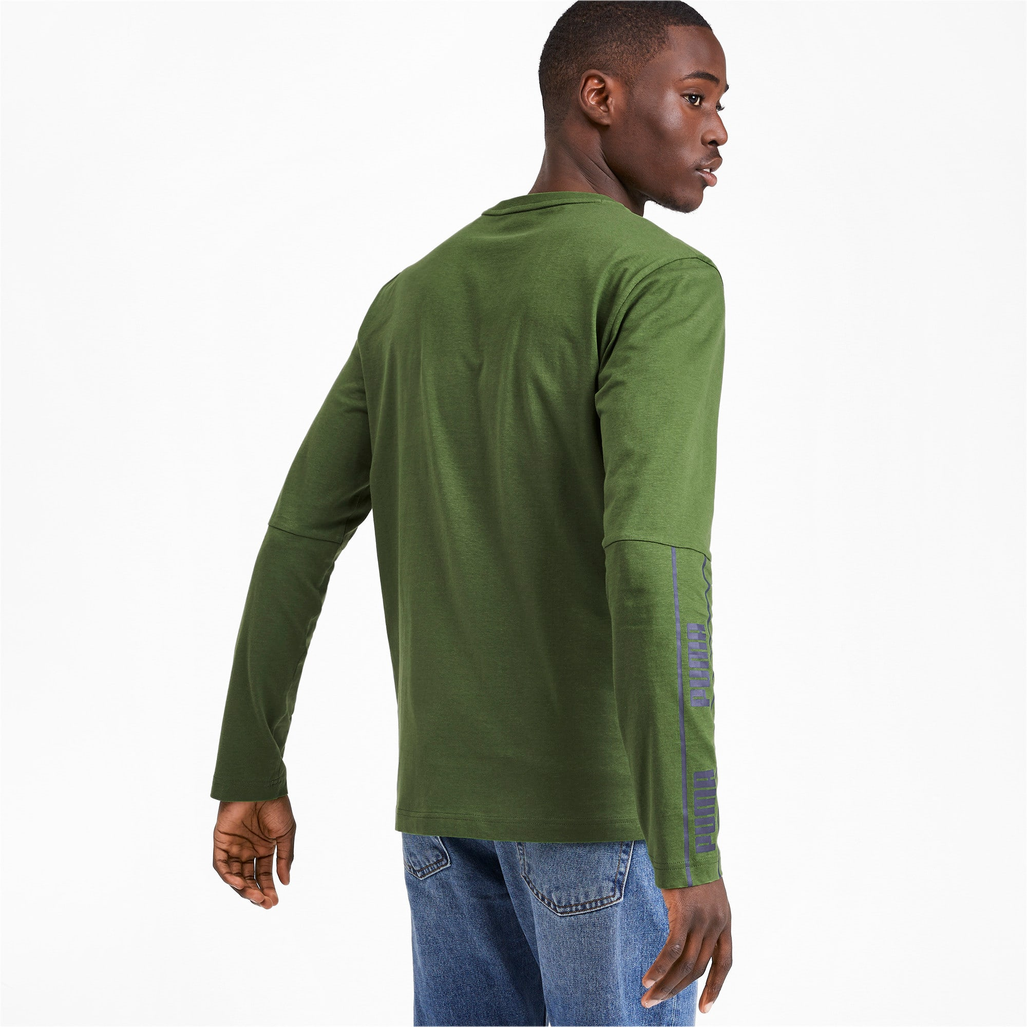 Thumbnail 2 of Amplified Long Sleeve Men's Tee, Garden Green, medium-IND