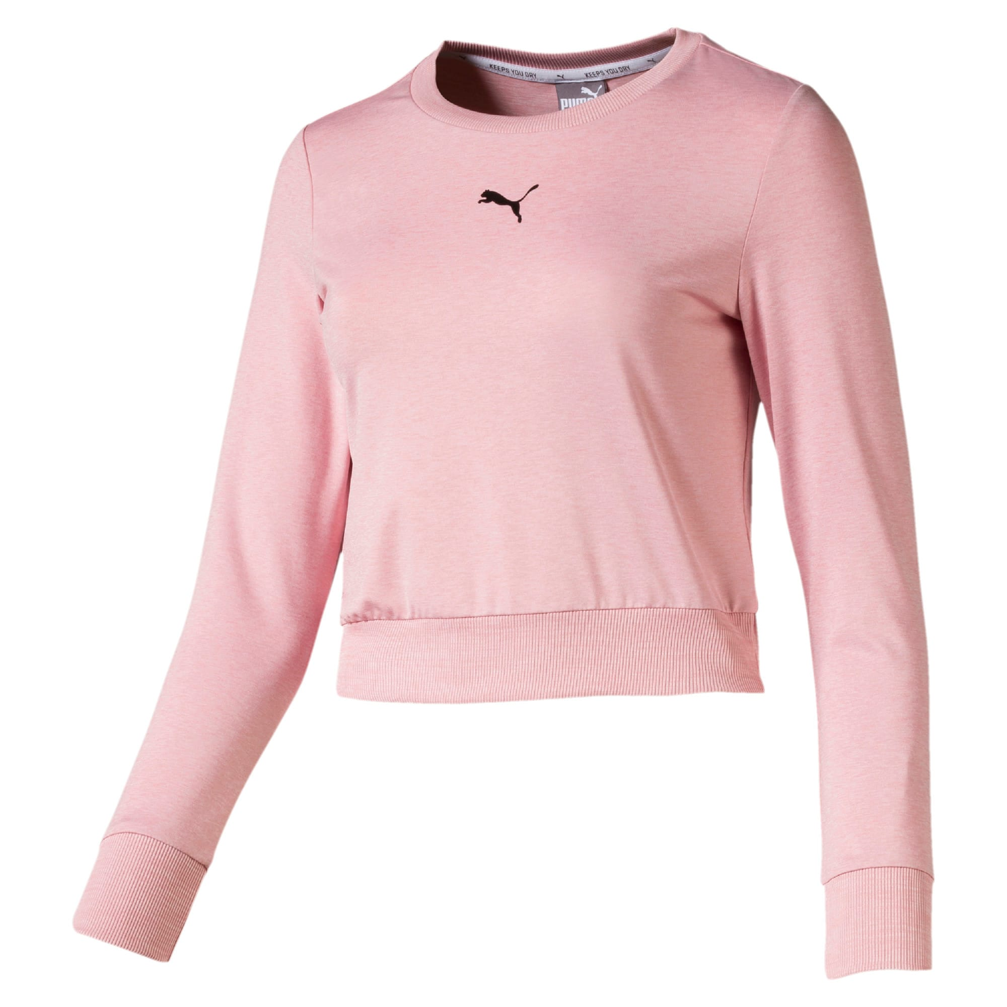 Thumbnail 4 of Soft Sports Long Sleeve Women's Tee, Bridal Rose Heather, medium-IND