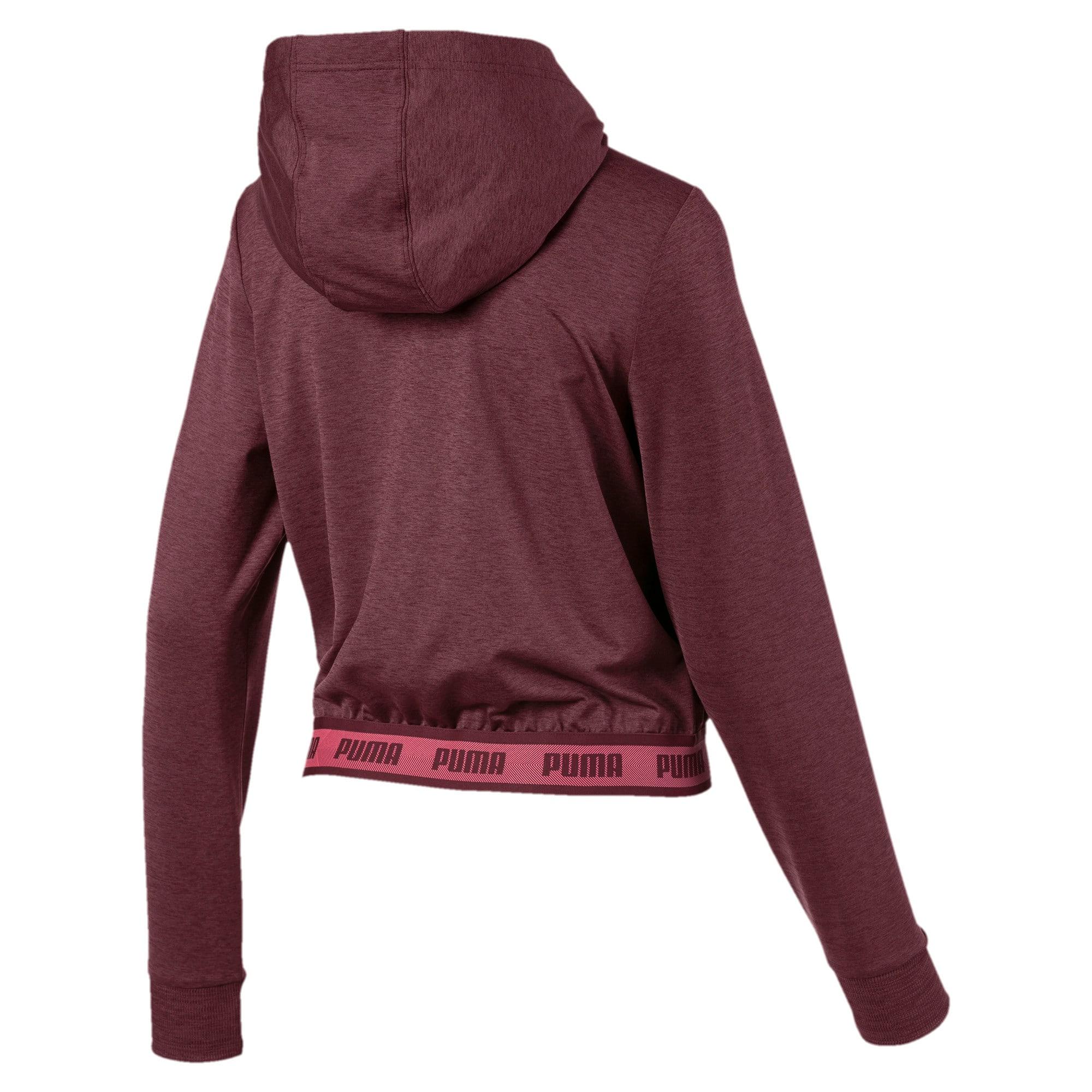 Thumbnail 5 of SOFT SPORTS Hooded Women's Sweat Jacket, Vineyard Wine Heather, medium-IND