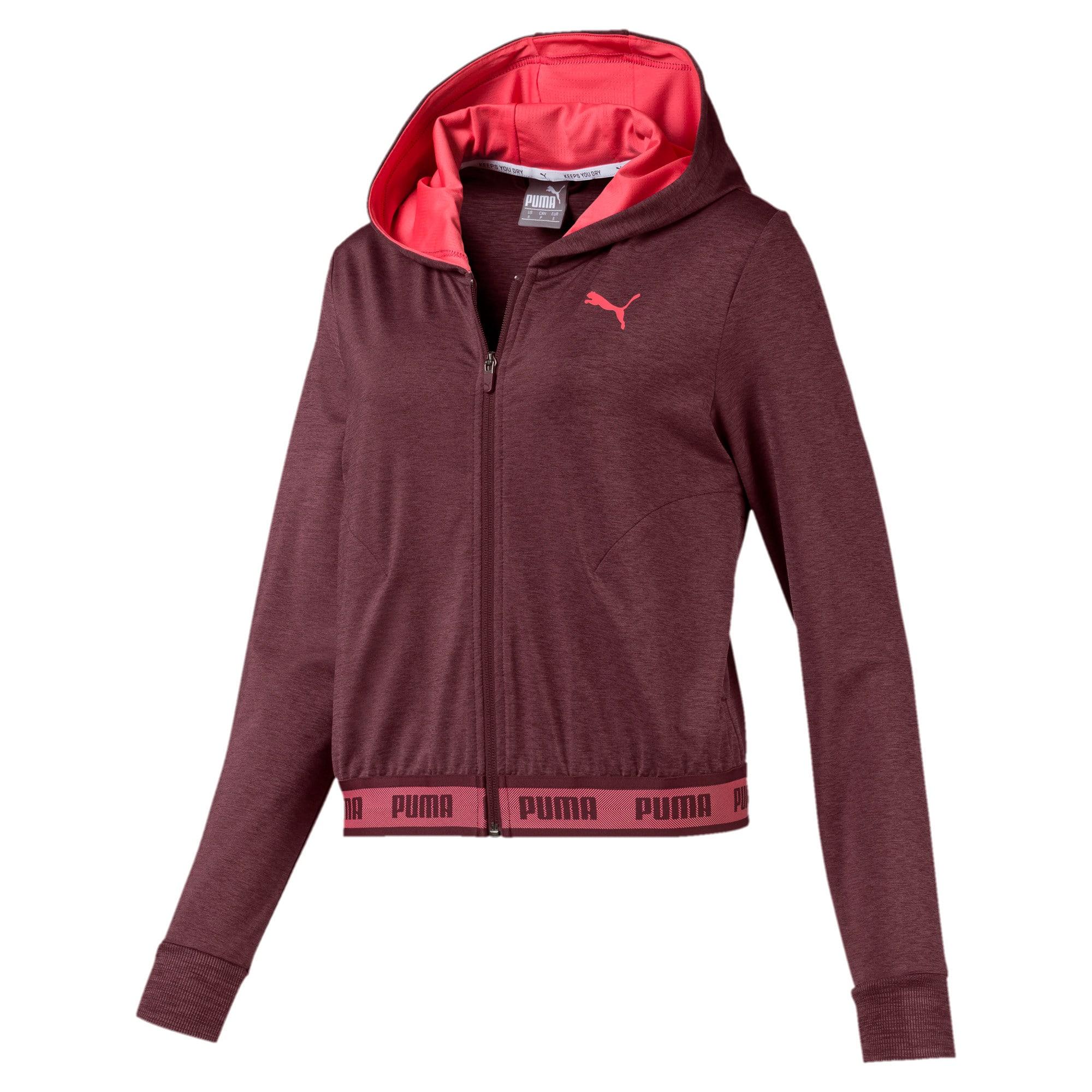 Thumbnail 4 of SOFT SPORTS Hooded Women's Sweat Jacket, Vineyard Wine Heather, medium-IND