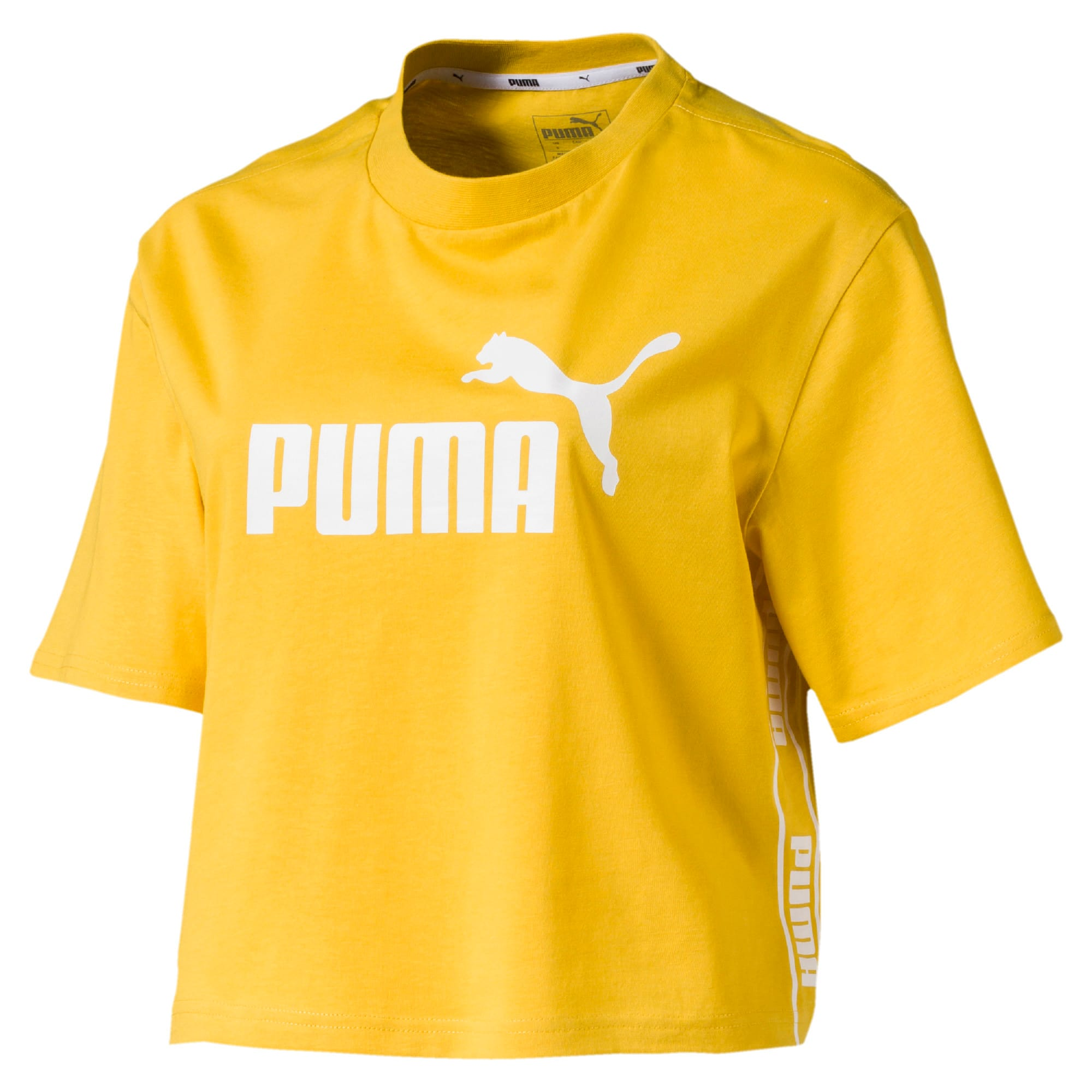 Thumbnail 4 of Amplified Cropped Women's Tee, Sulphur, medium-IND