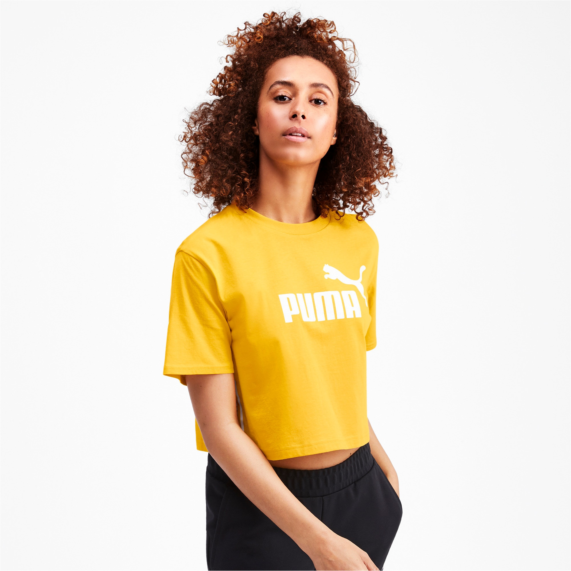 Thumbnail 1 of Amplified Cropped Women's Tee, Sulphur, medium-IND