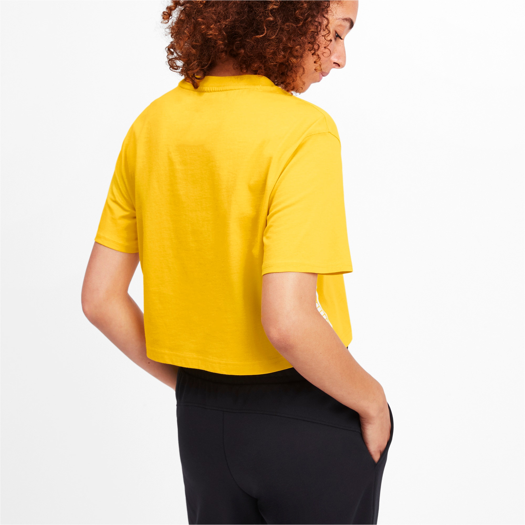 Thumbnail 2 of Amplified Cropped Women's Tee, Sulphur, medium-IND