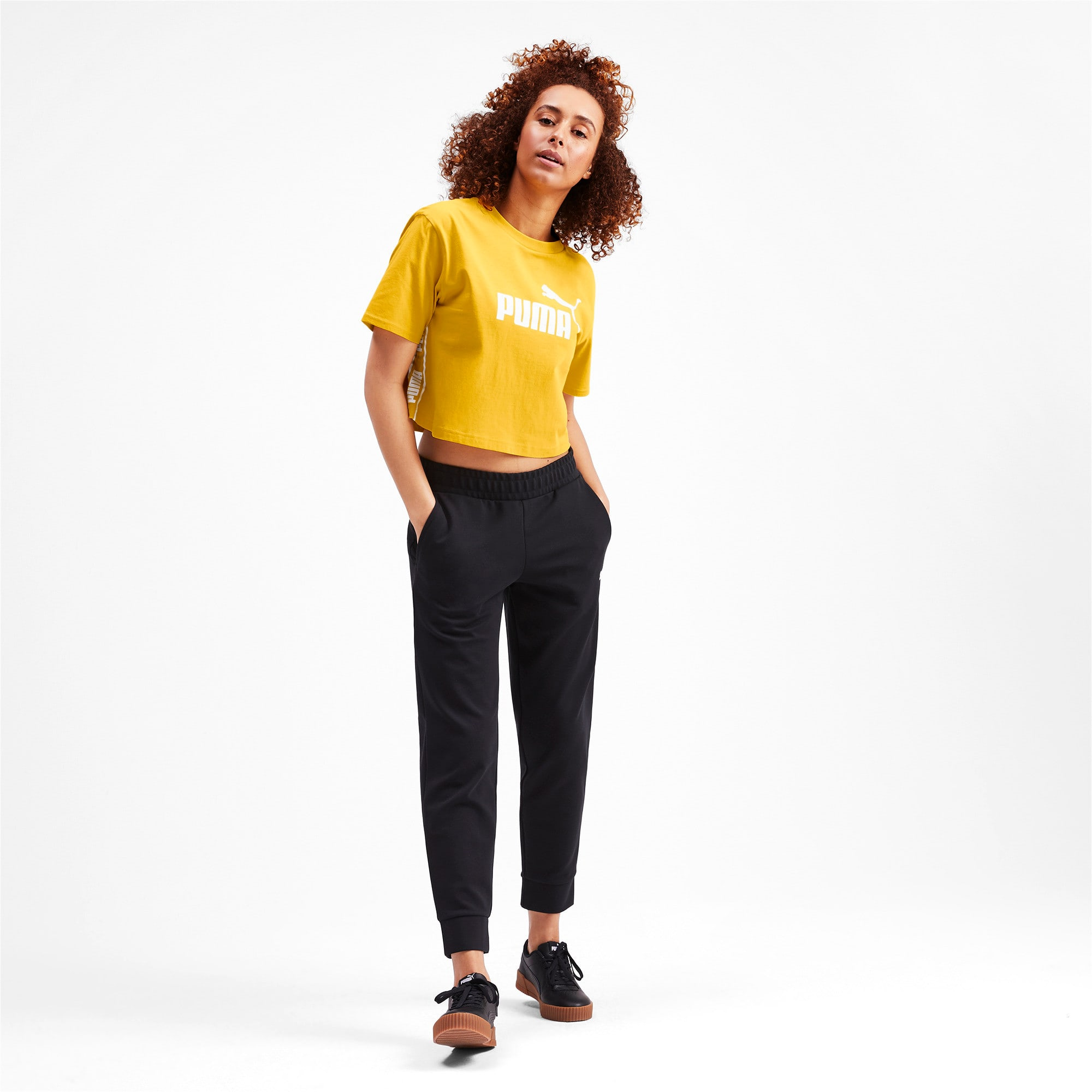 Thumbnail 3 of Amplified Cropped Women's Tee, Sulphur, medium-IND