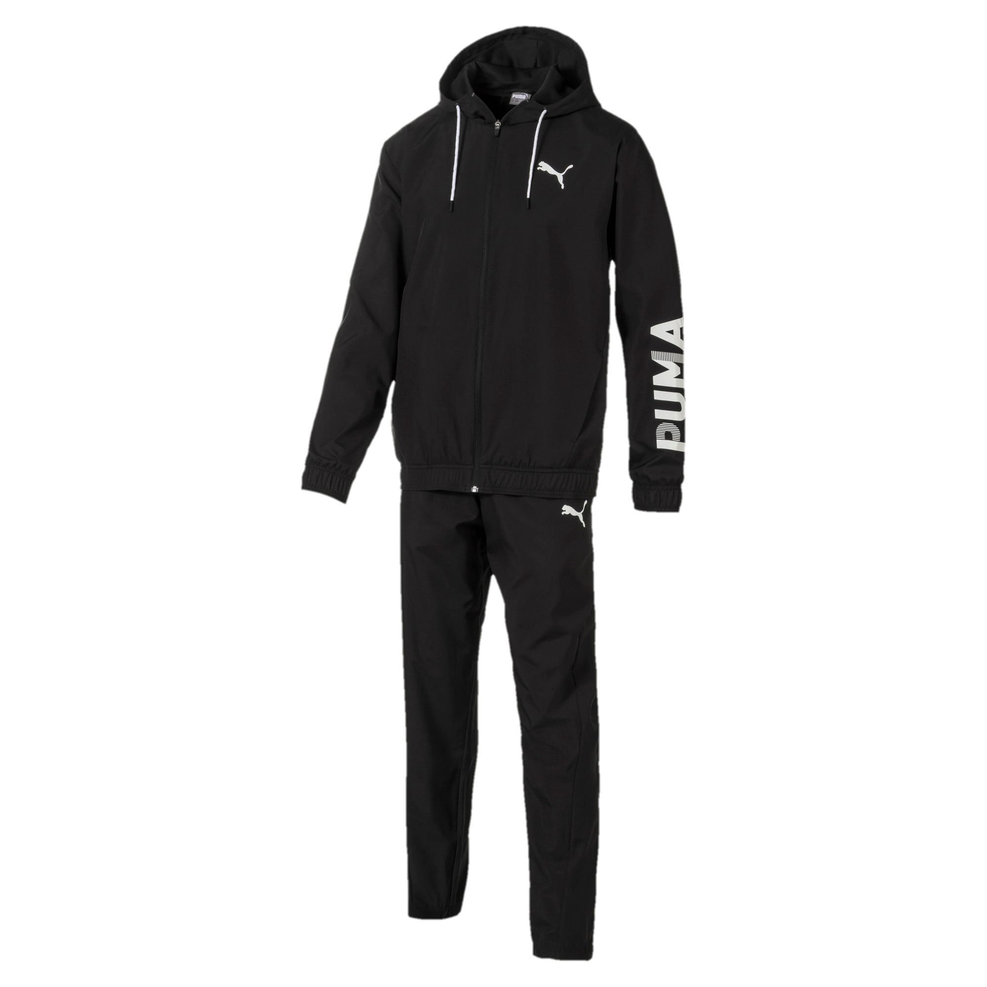 Thumbnail 1 of Modern Sport Hooded Men's Sweat Suit, Puma Black, medium-IND