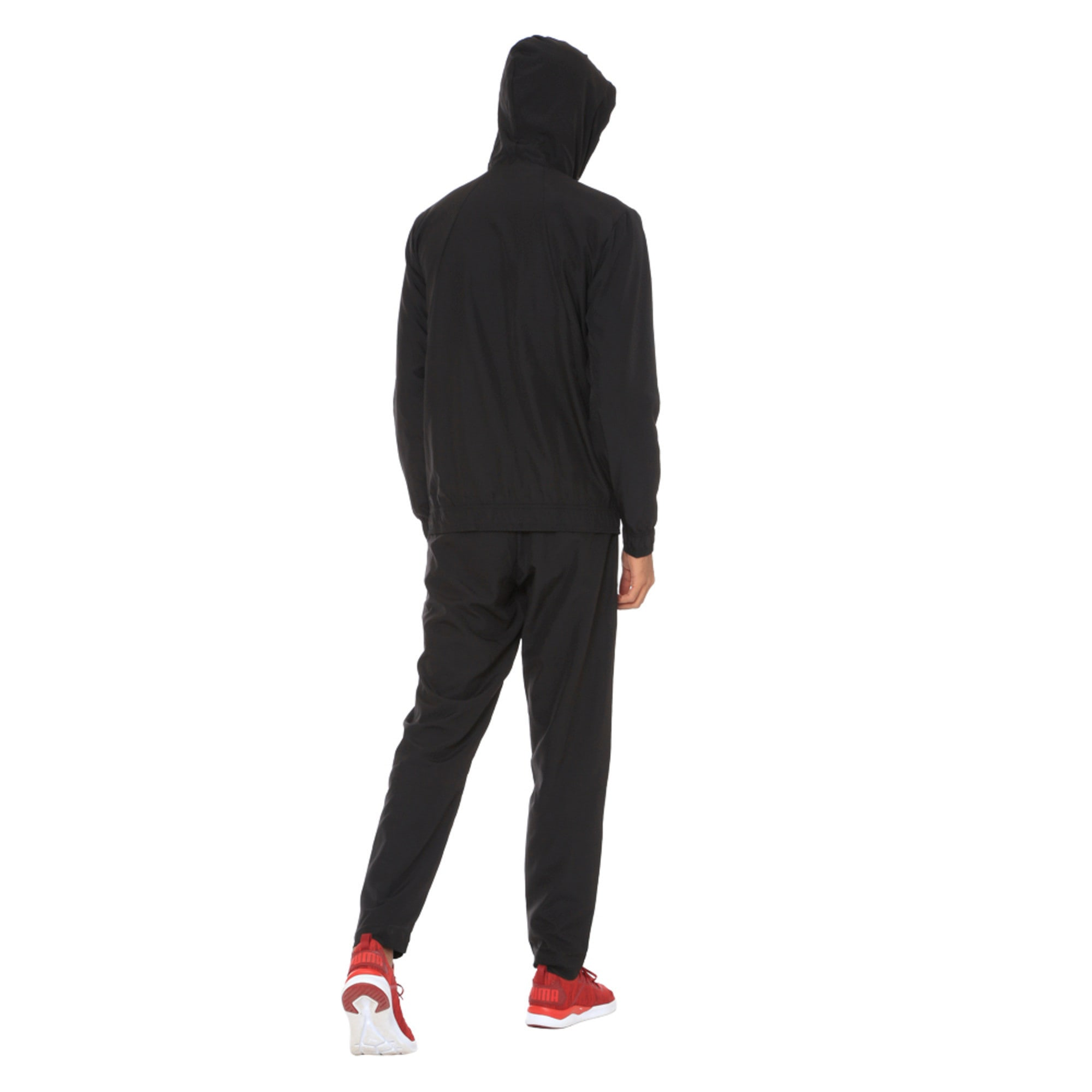 Thumbnail 3 of Modern Sport Hooded Men's Sweat Suit, Puma Black, medium-IND