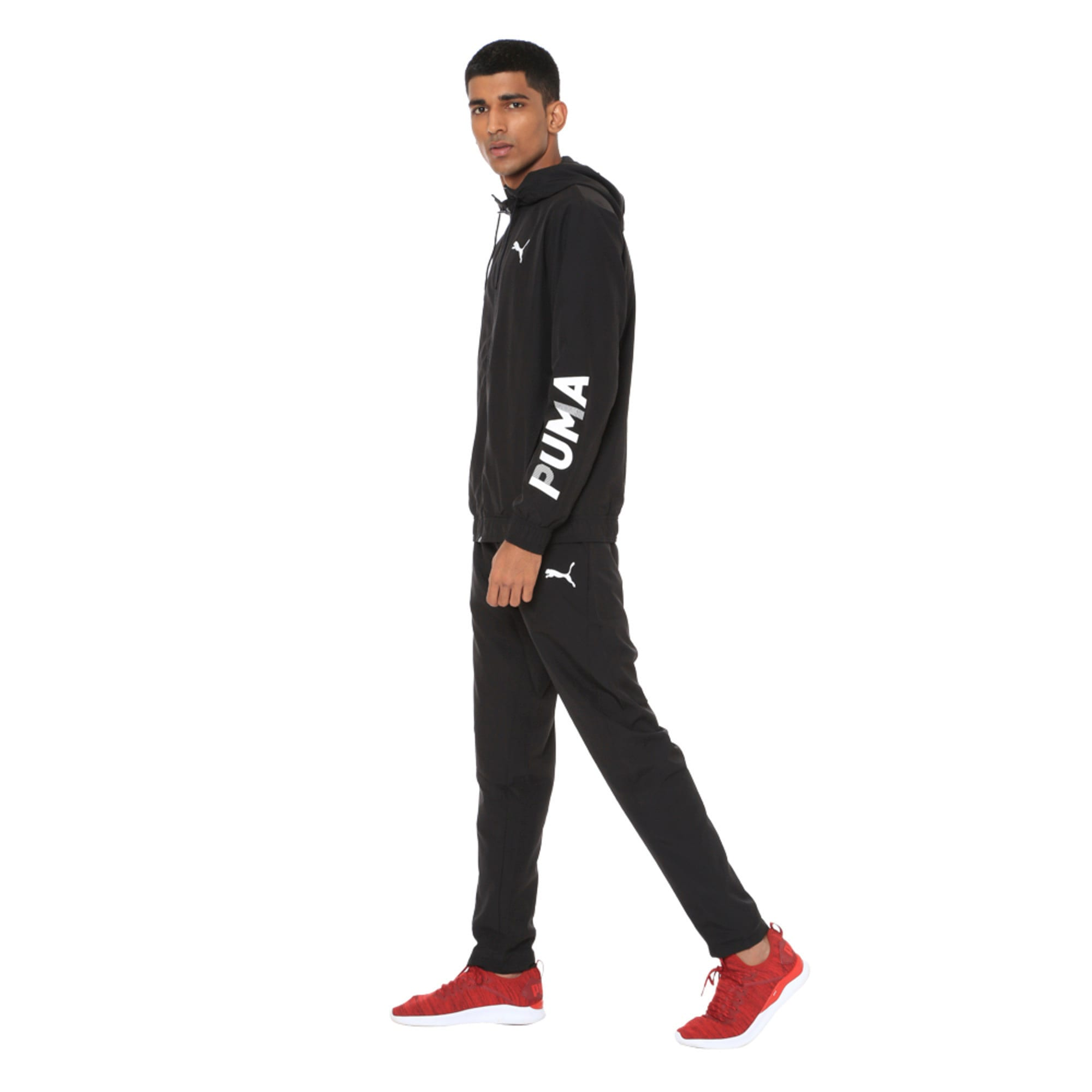 Thumbnail 4 of Modern Sport Hooded Men's Sweat Suit, Puma Black, medium-IND