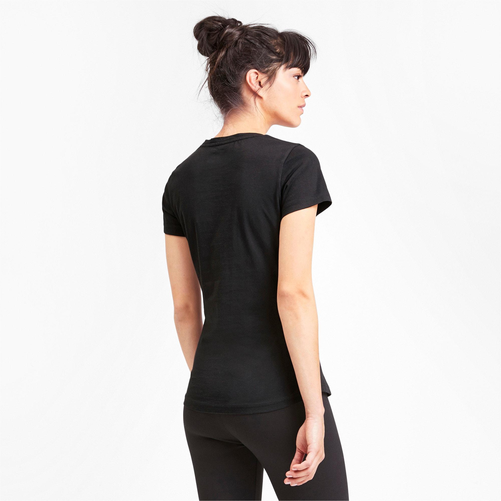 Thumbnail 3 of Rebel Short Sleeve Women's Tee, Puma Black, medium-IND