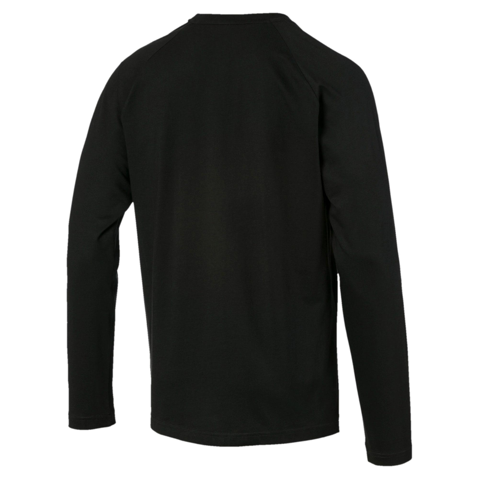 Thumbnail 5 of Modern Sports Men's Long Sleeve Tee, Puma Black, medium