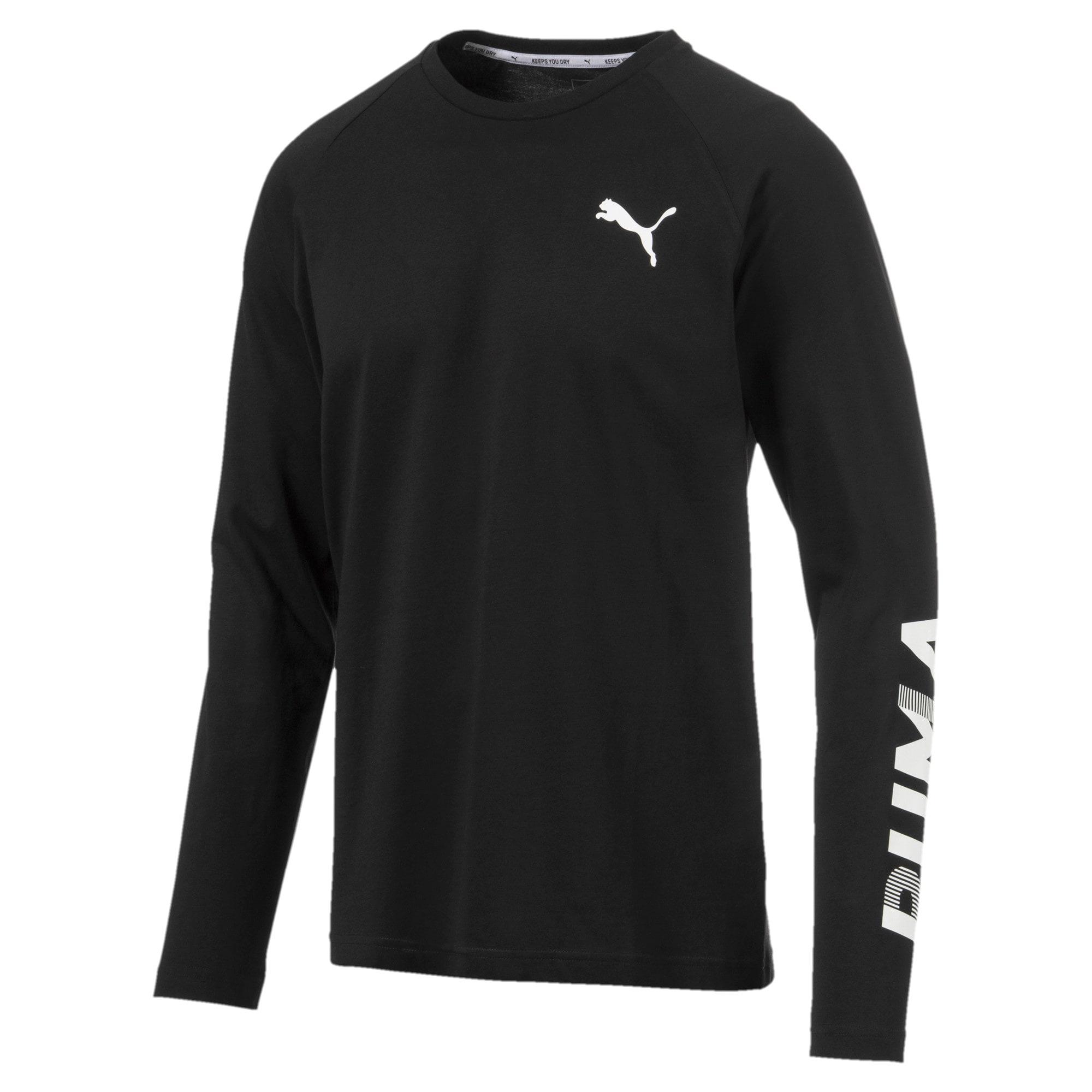 Thumbnail 1 of Modern Sports Men's Long Sleeve Tee, Puma Black, medium