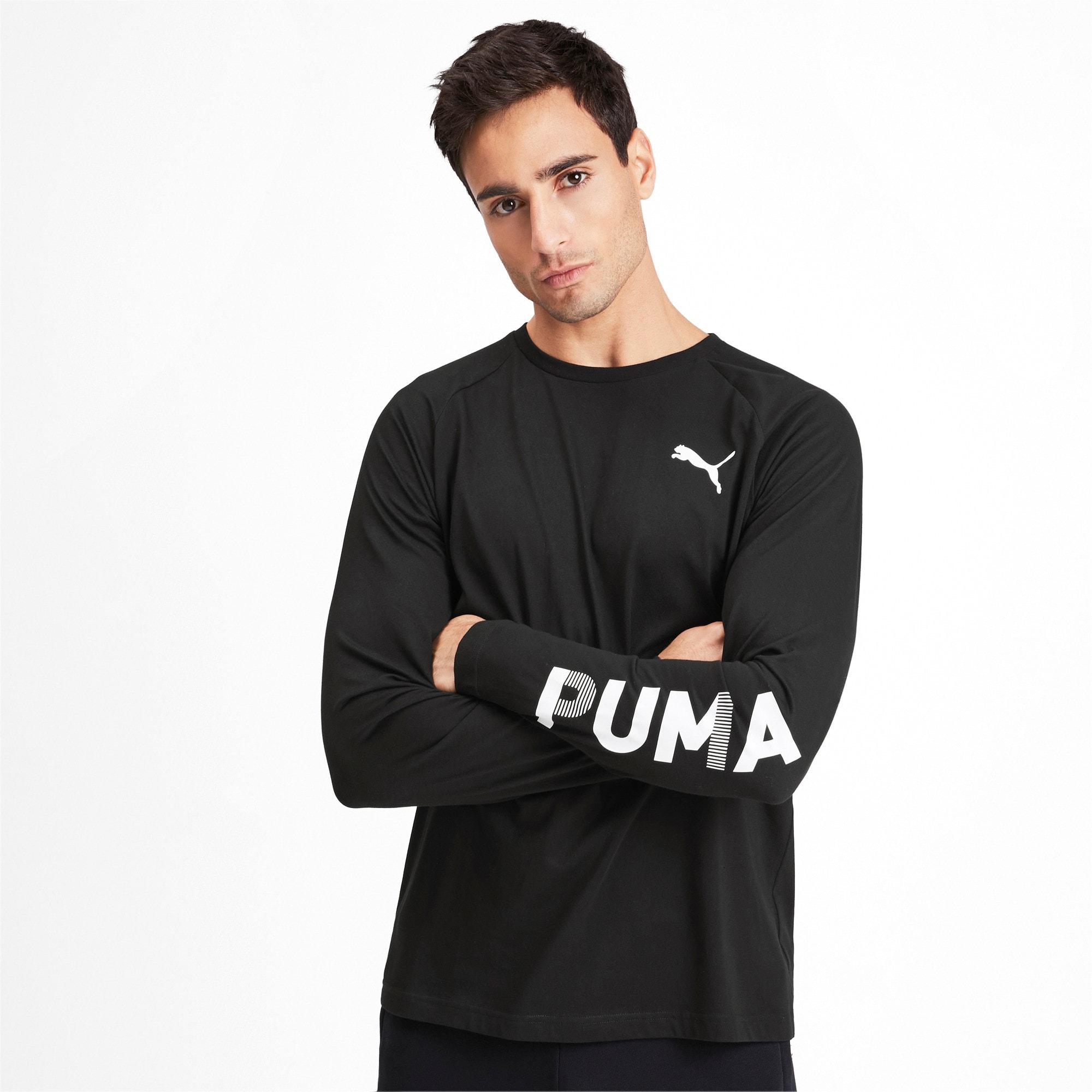 Thumbnail 2 of Modern Sports Men's Long Sleeve Tee, Puma Black, medium