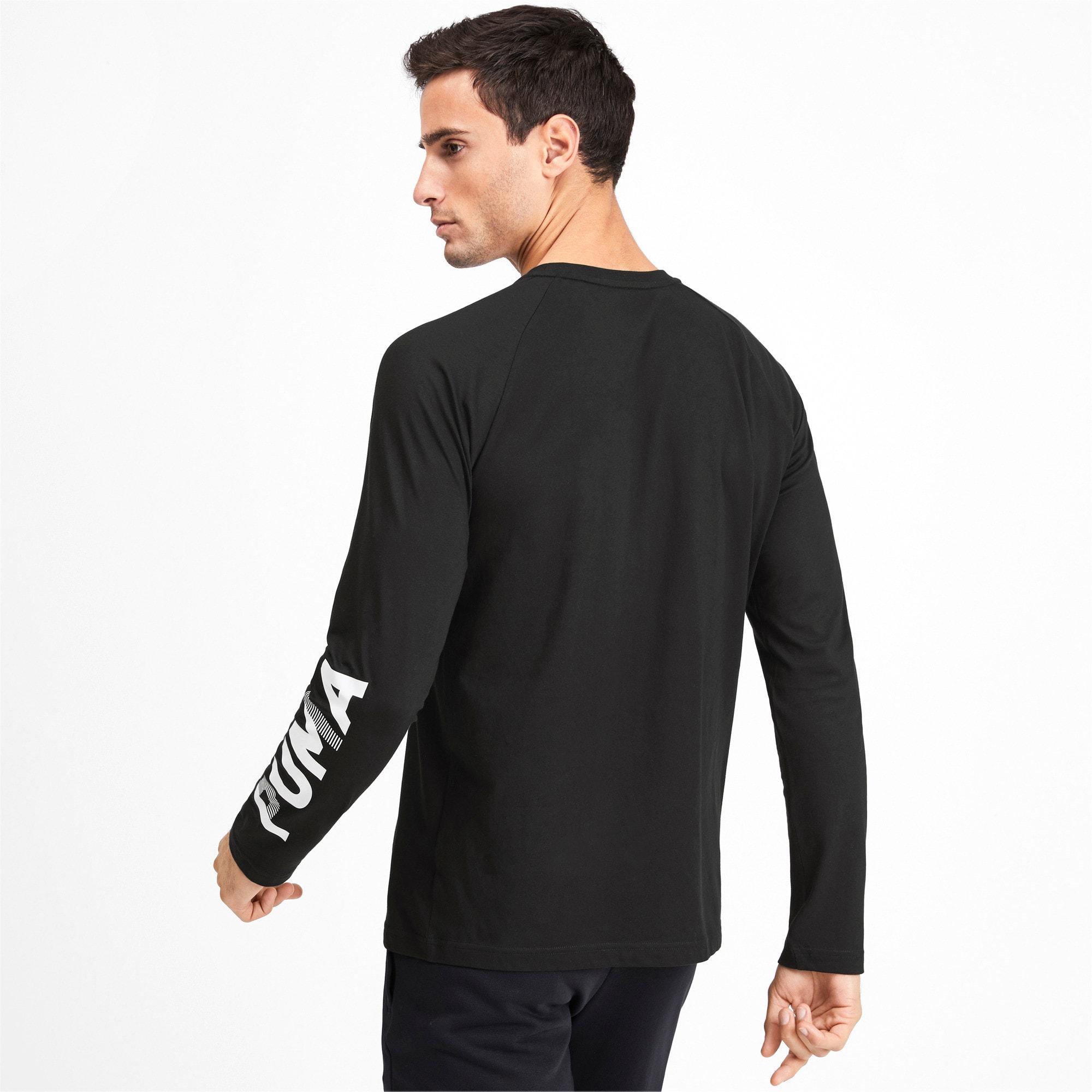Thumbnail 3 of Modern Sports Men's Long Sleeve Tee, Puma Black, medium