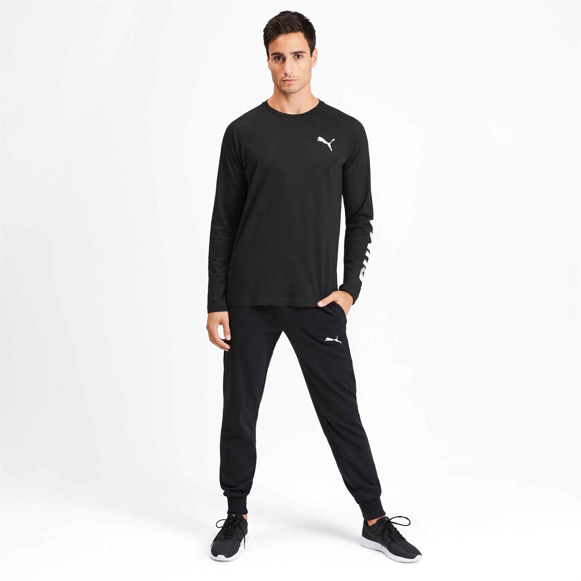 Thumbnail 4 of Modern Sports Men's Long Sleeve Tee, Puma Black, medium
