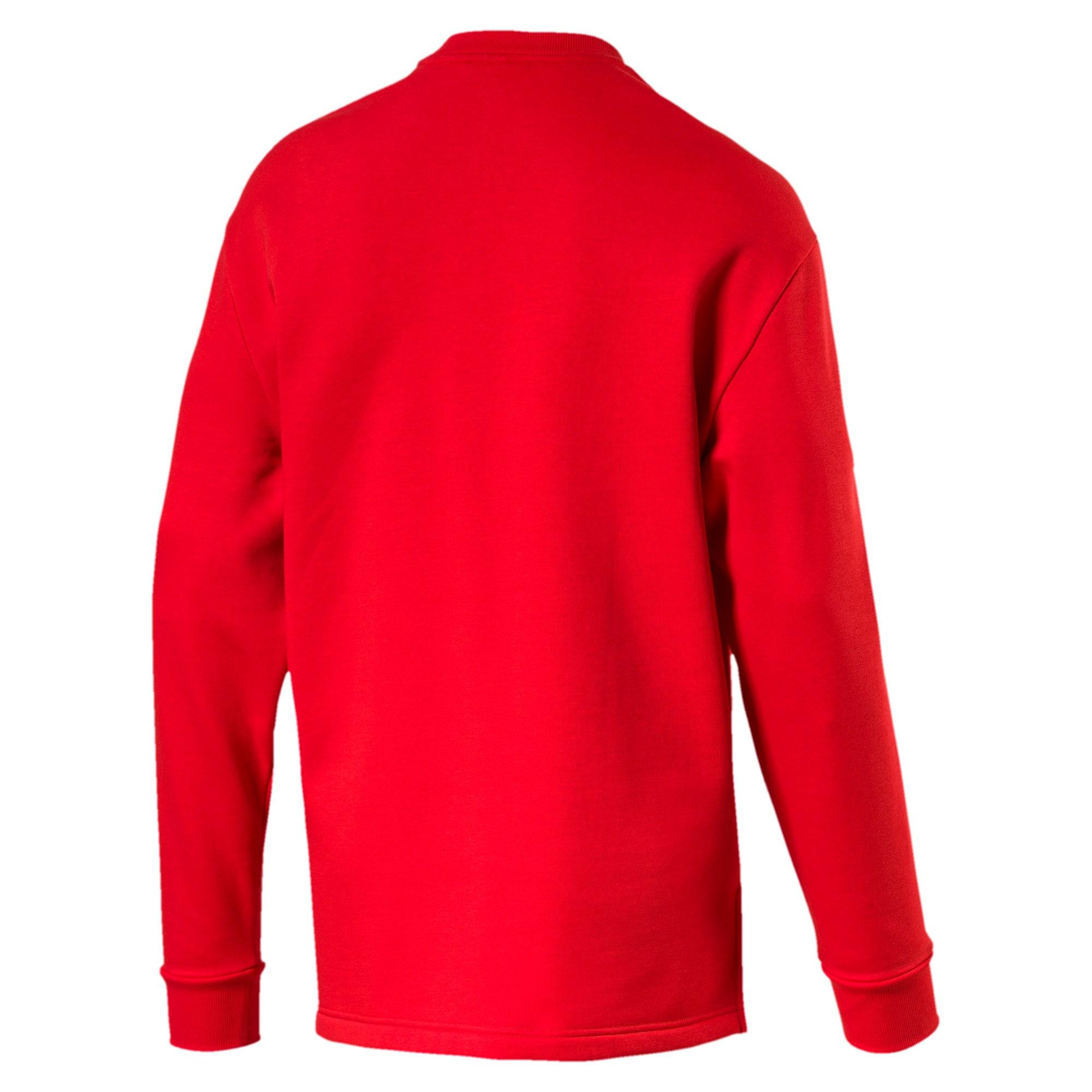 Thumbnail 5 of Rebel Bold Crew Neck Men's Sweater, High Risk Red, medium-IND