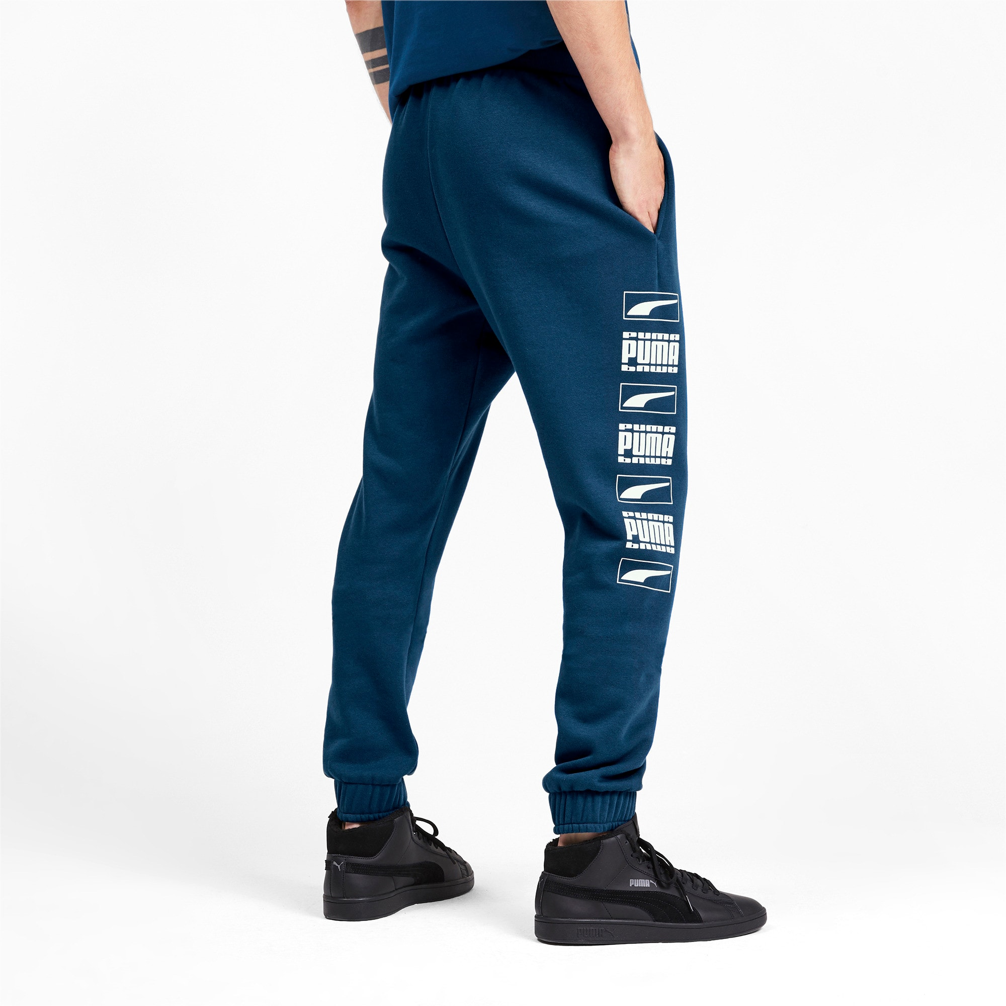 Thumbnail 3 of Rebel Bold Full Length Men's Sweatpants, Gibraltar Sea, medium-IND