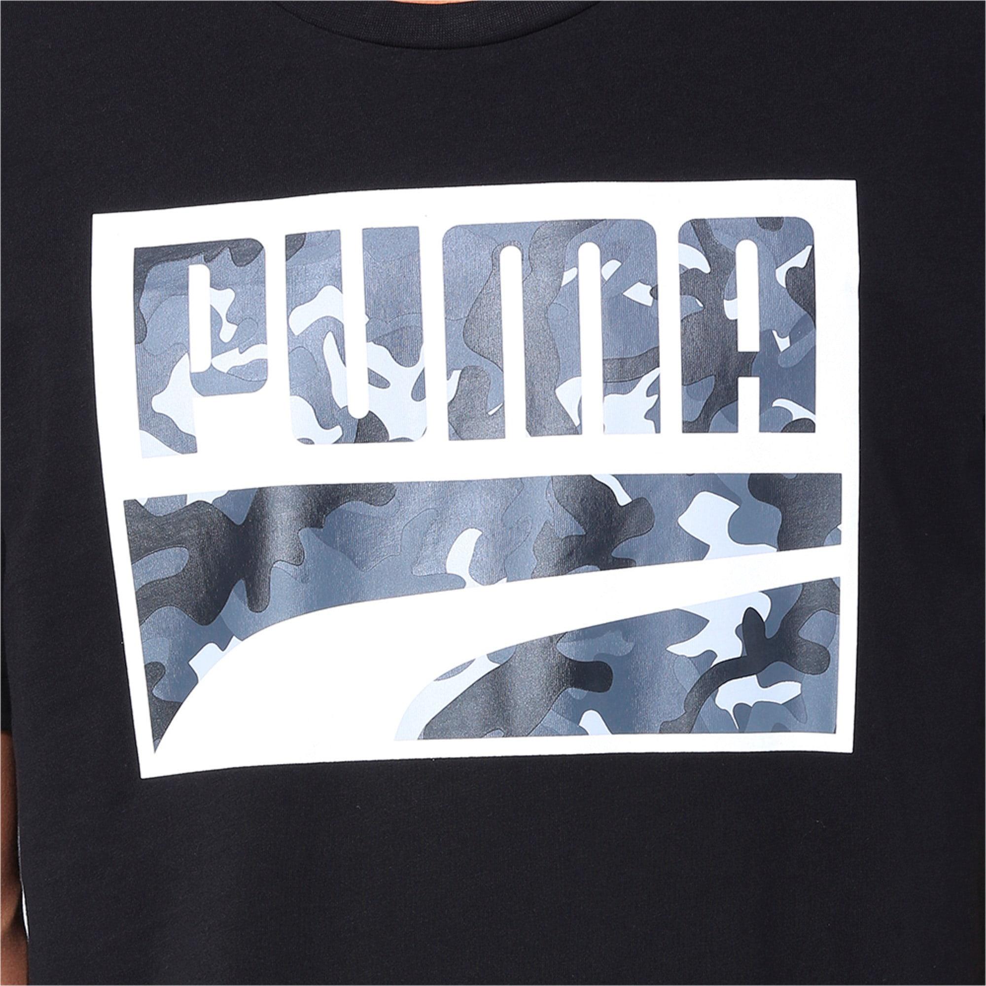 Thumbnail 6 of Rebel Camo Filled Men's Tee, Puma Black, medium-IND