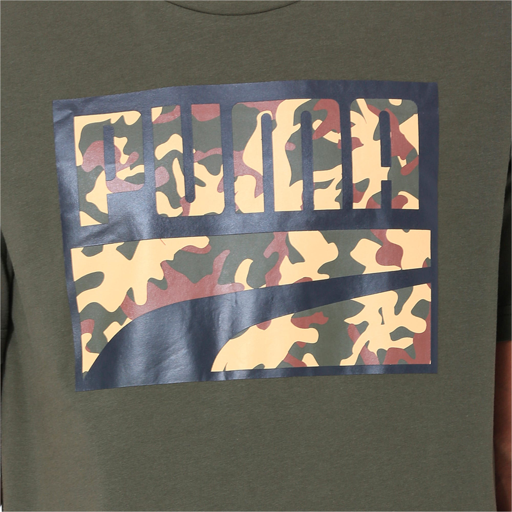Thumbnail 6 of Rebel Camo Filled Men's Tee, Forest Night, medium-IND