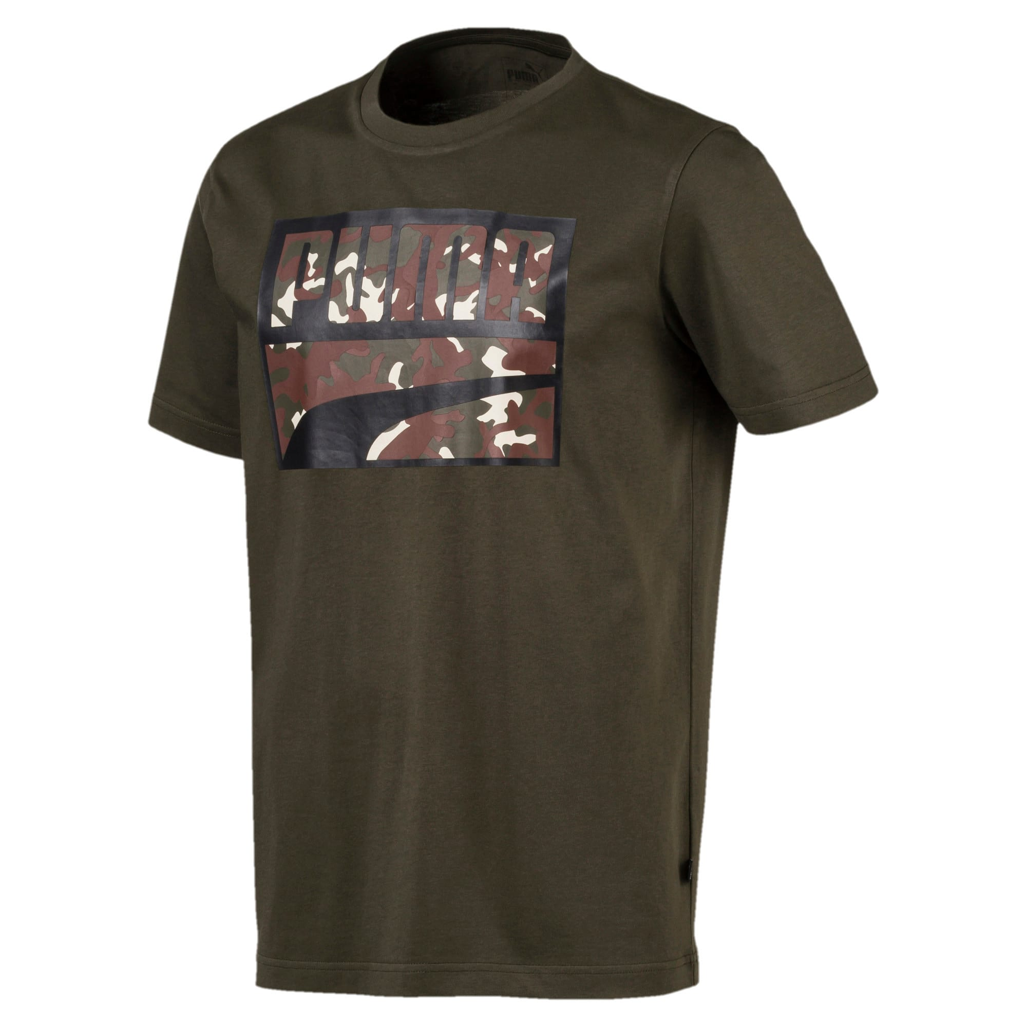 Thumbnail 4 of Rebel Camo Filled Men's Tee, Forest Night, medium-IND